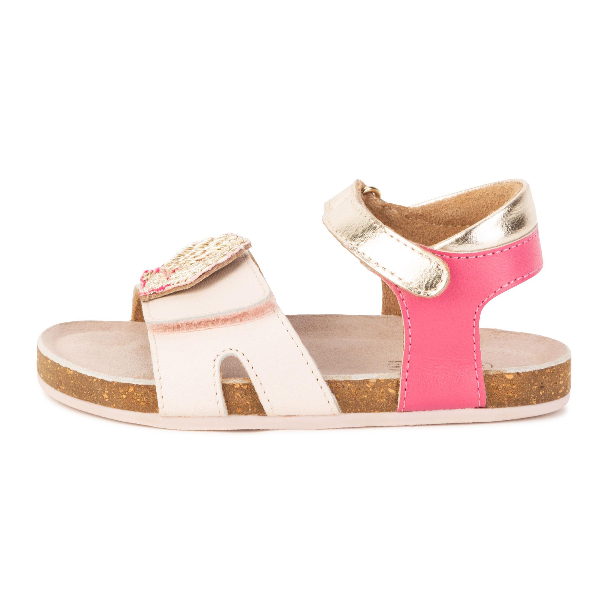 Sandales coquillage à scratch CARREMENT BEAU pour FILLE