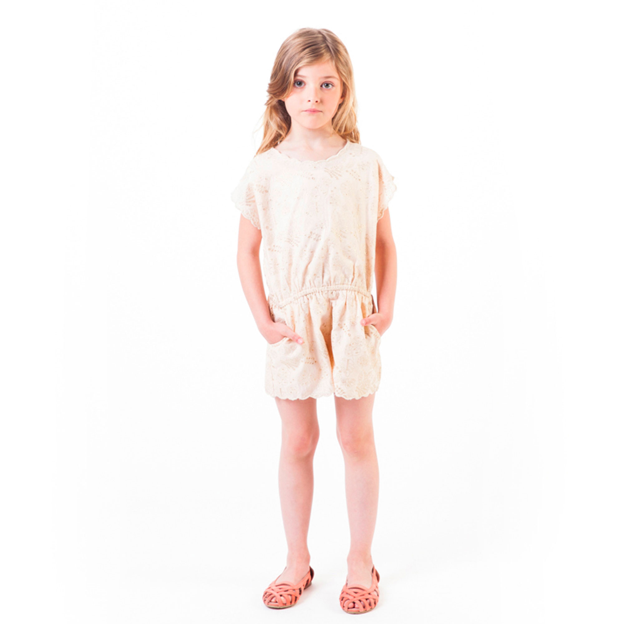 Broderie anglaise playsuit CARREMENT BEAU for GIRL