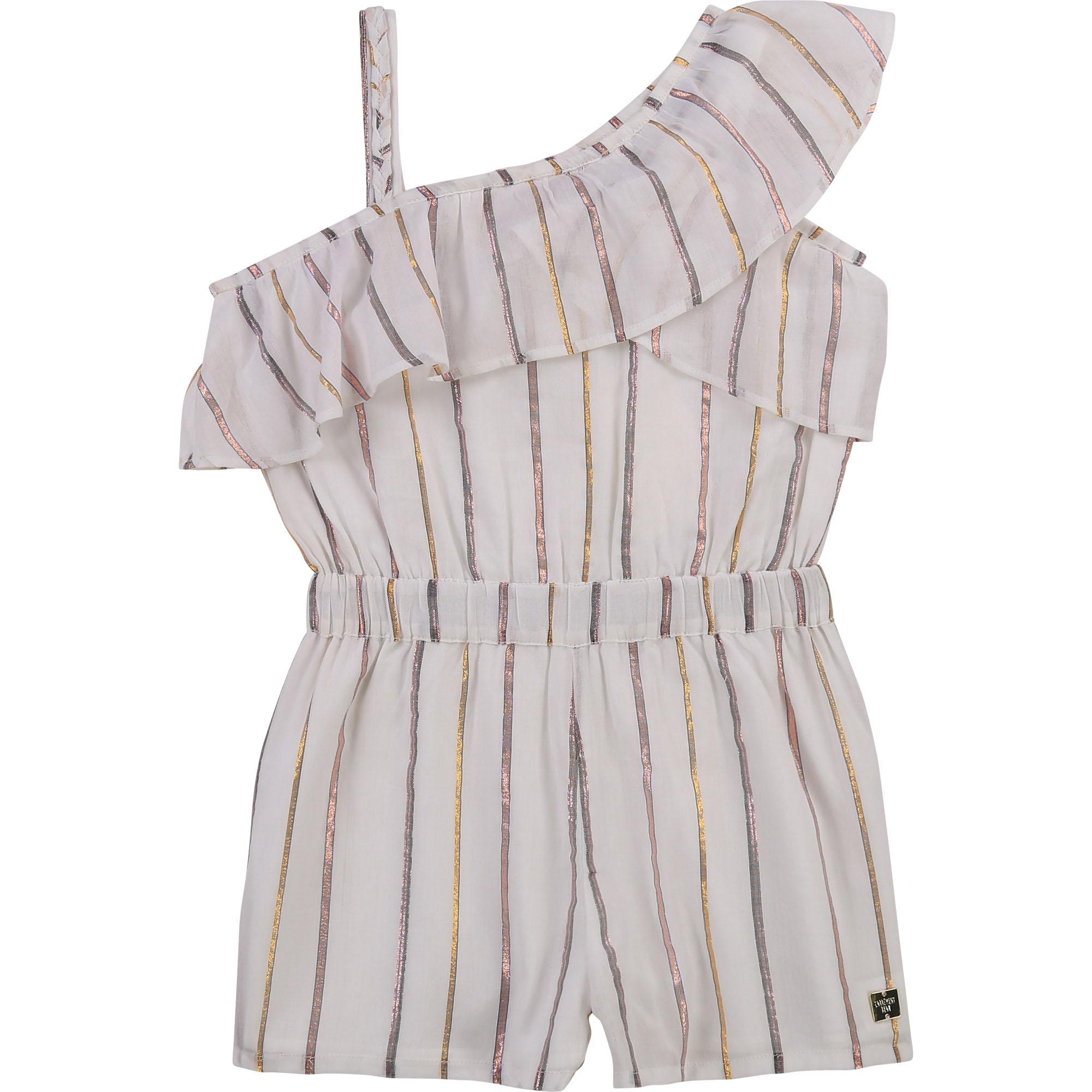 Striped asymmetric romper CARREMENT BEAU for GIRL