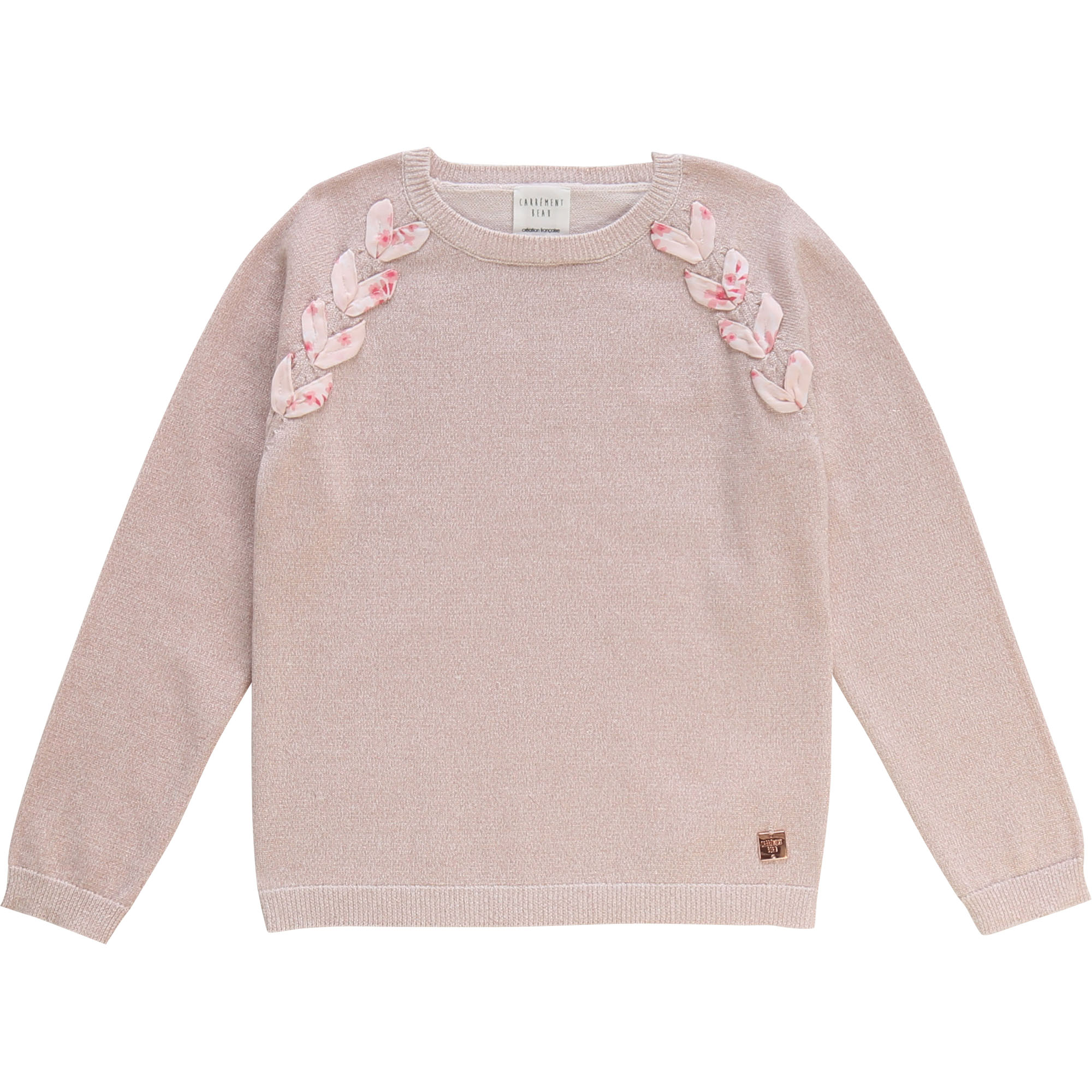 Iridescent jumper with ribbon CARREMENT BEAU for GIRL