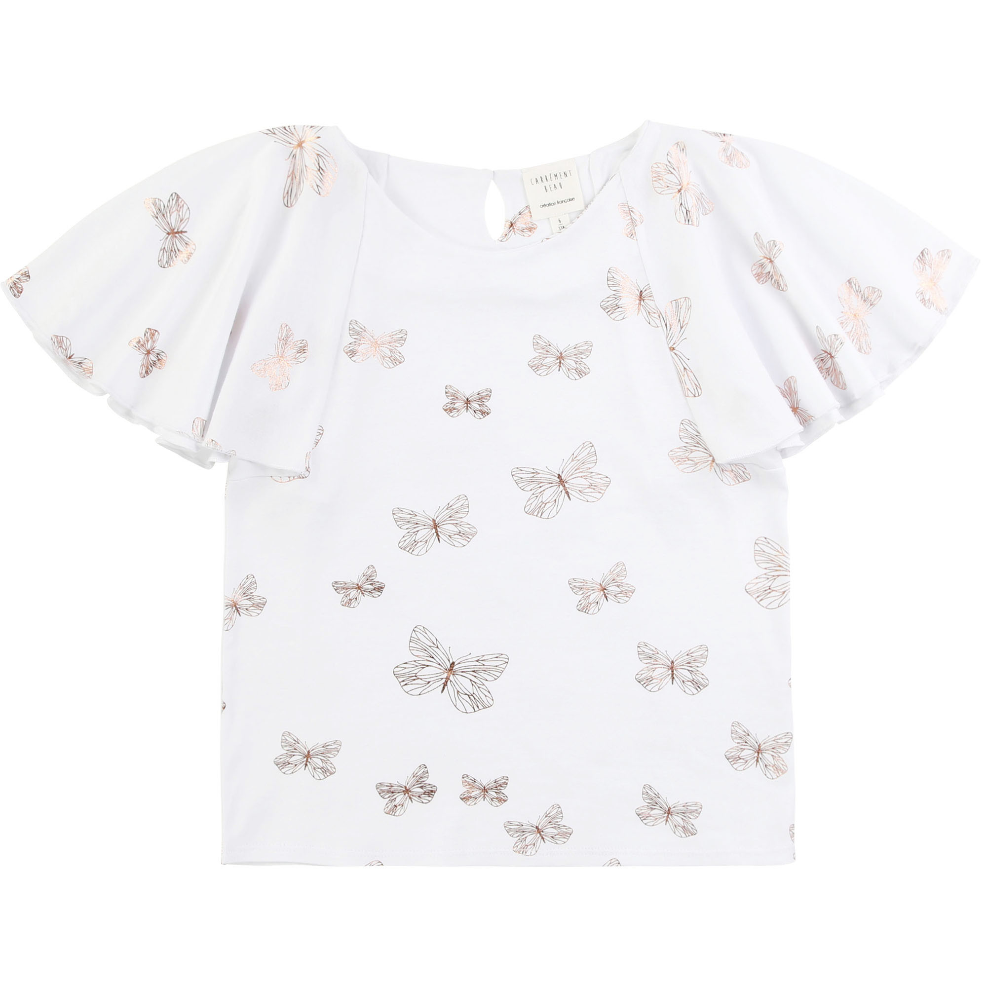 T-shirt with butterfly motif CARREMENT BEAU for GIRL