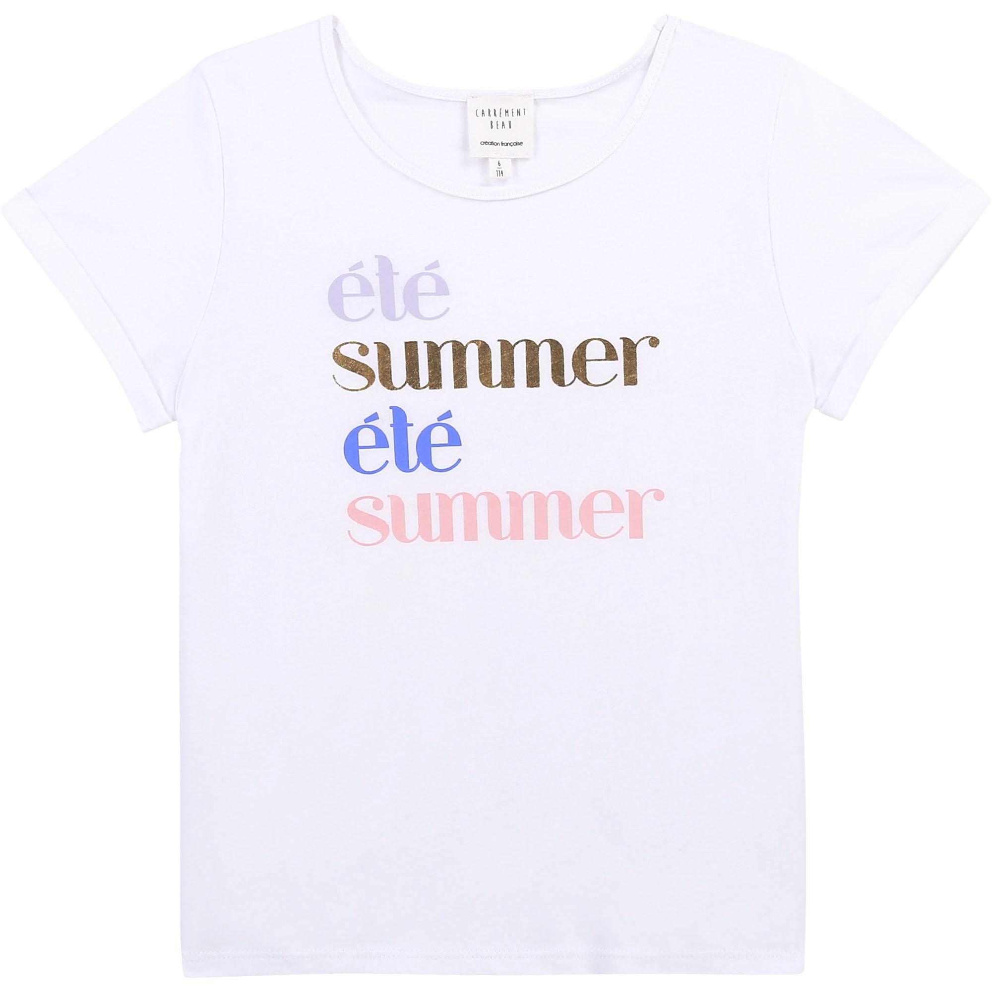 Cotton jersey T-shirt CARREMENT BEAU for GIRL