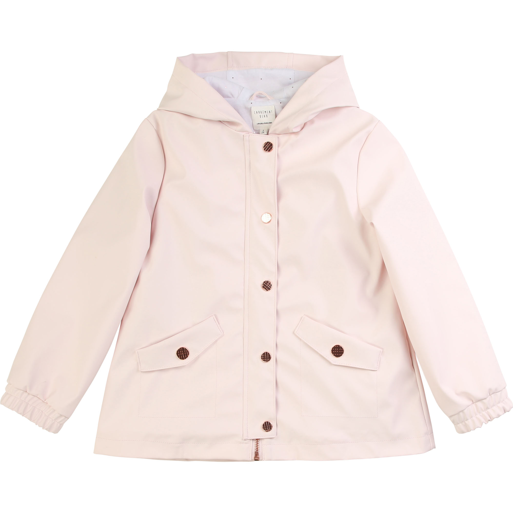 Waterproof hooded raincoat CARREMENT BEAU for GIRL