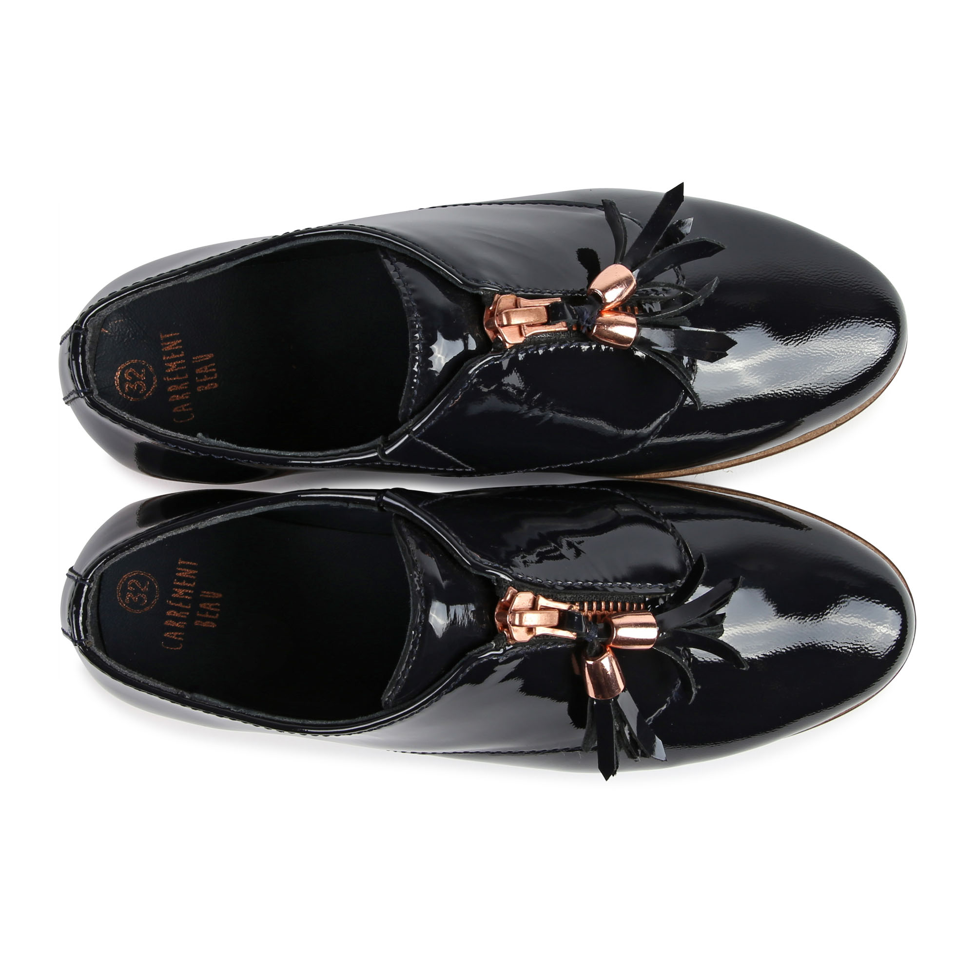 Leather Oxfords with pompom CARREMENT BEAU for GIRL