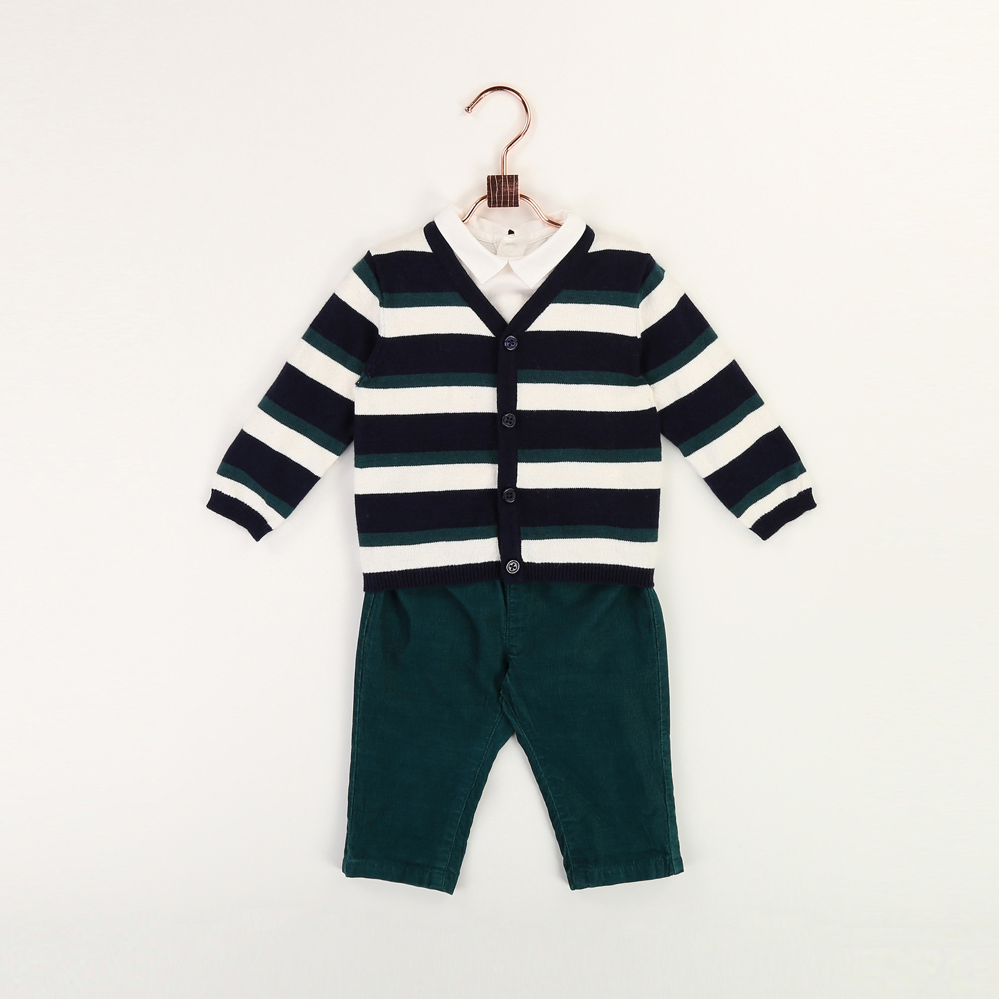 Cardigan en tricot rayé CARREMENT BEAU pour GARCON