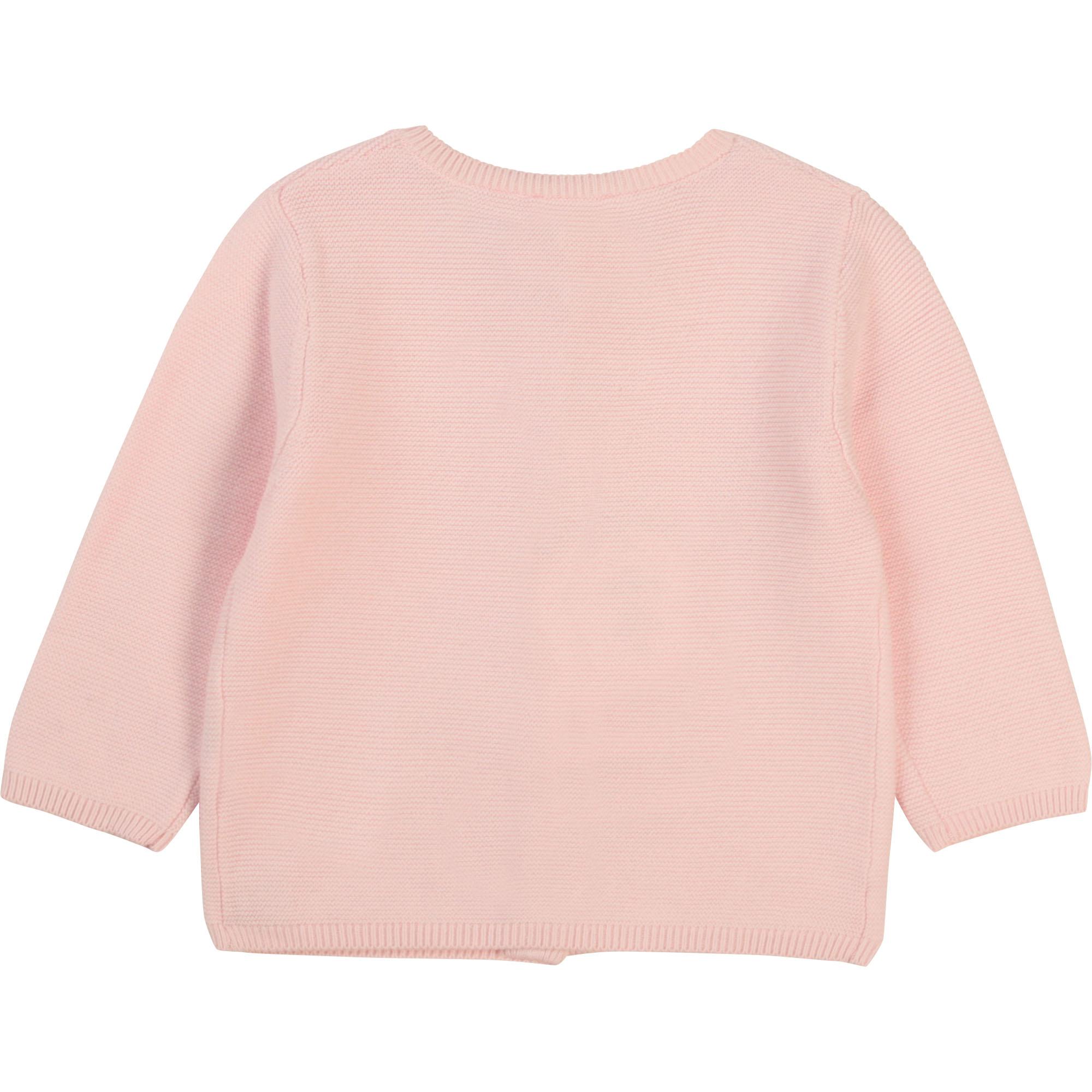 Garter stitch cardigan CARREMENT BEAU for GIRL