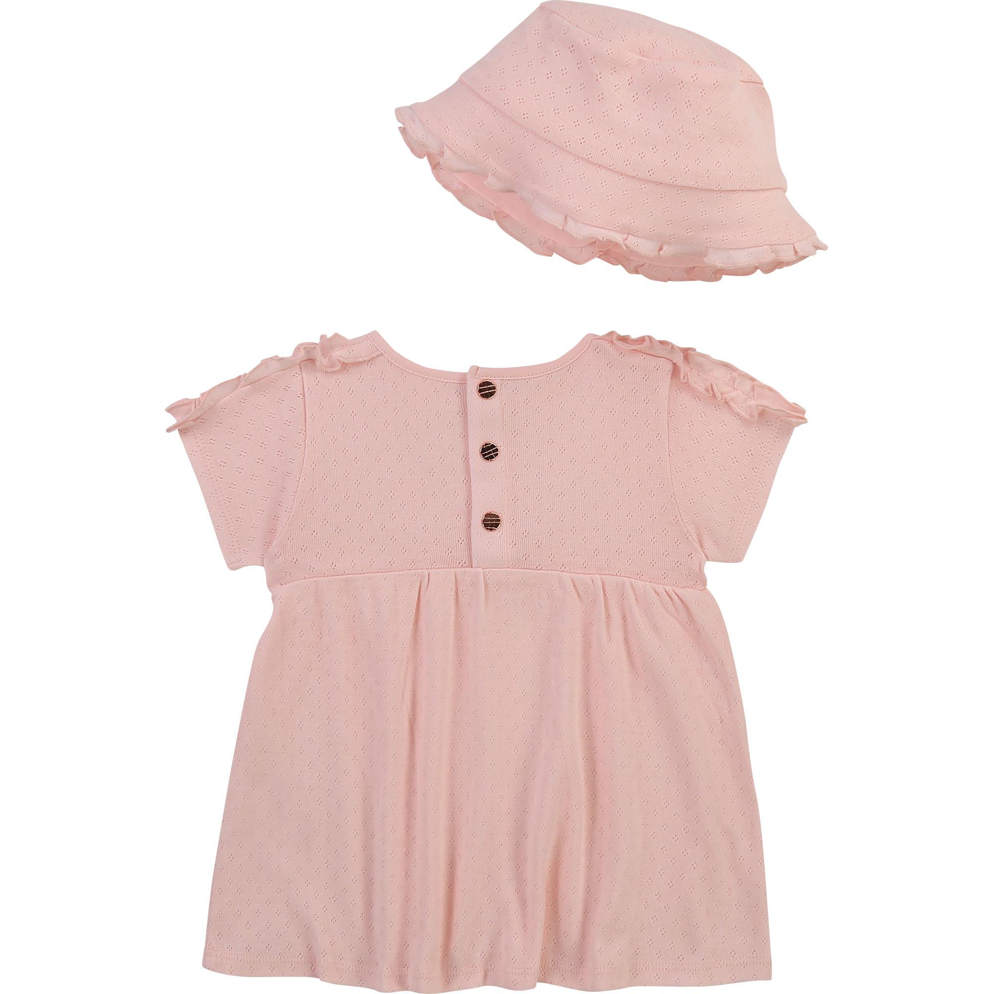 Ensemble robe et chapeau en coton biologique CARREMENT BEAU pour FILLE