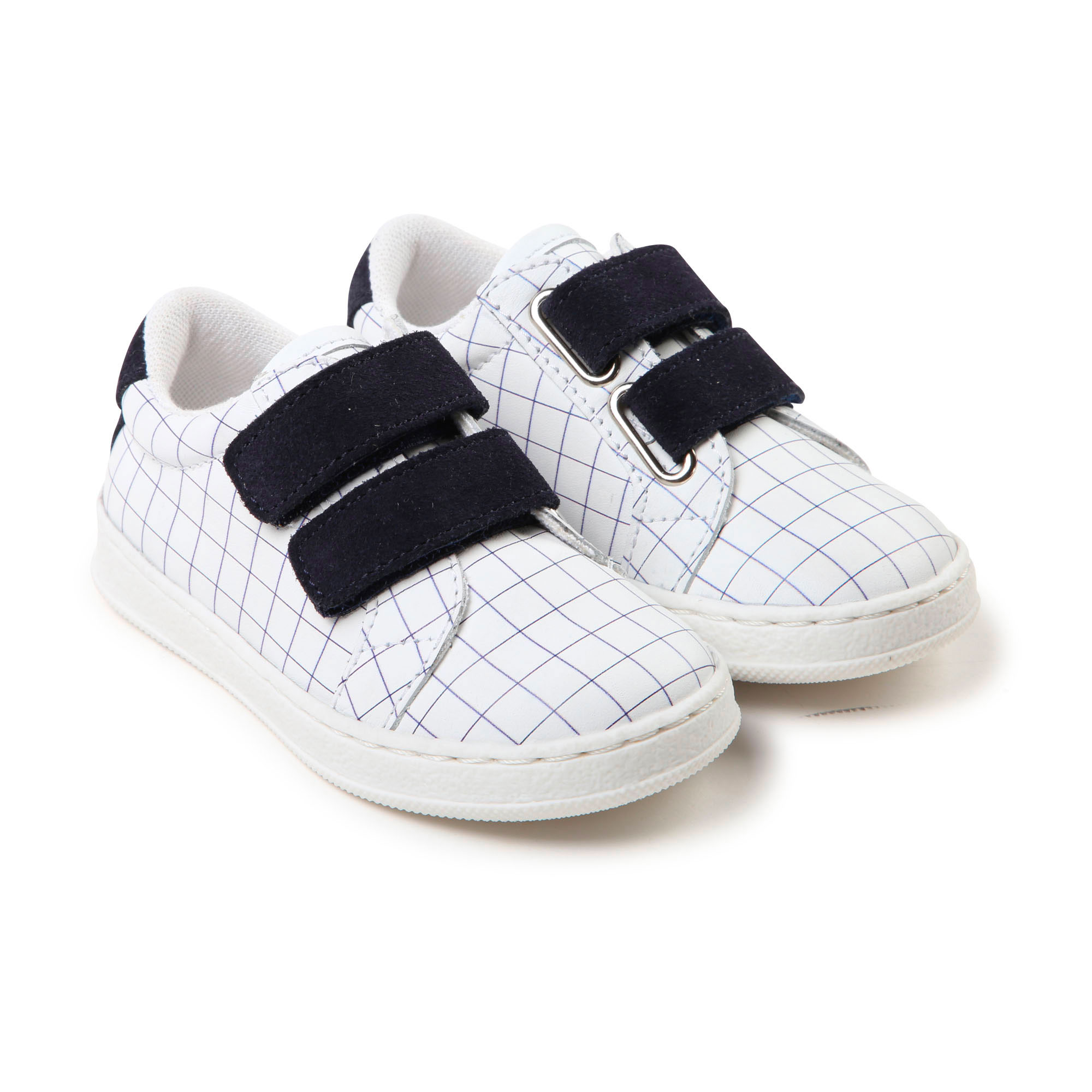 Checked leather trainers CARREMENT BEAU for BOY