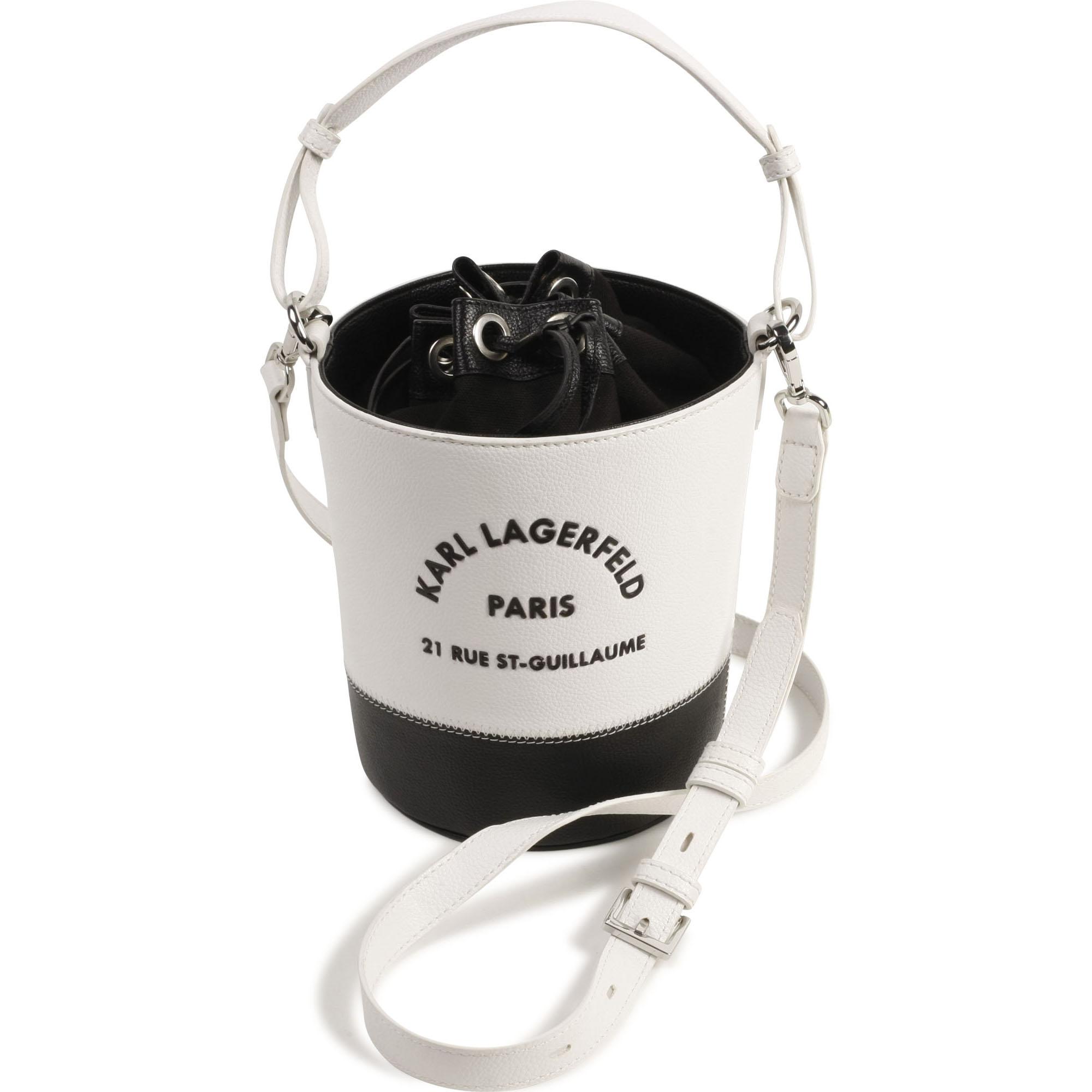 Two-tone grained bucket bag KARL LAGERFELD KIDS for GIRL