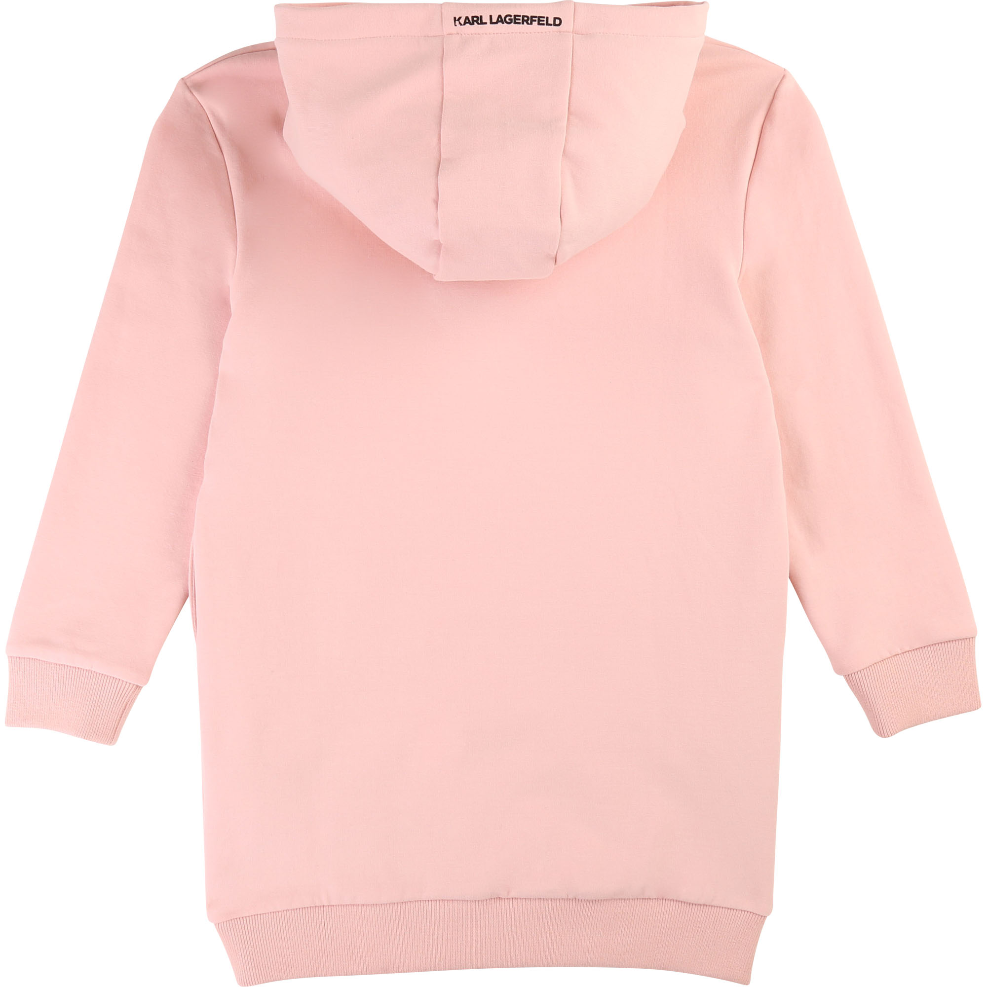 Robe sweat à manches longues KARL LAGERFELD KIDS pour FILLE