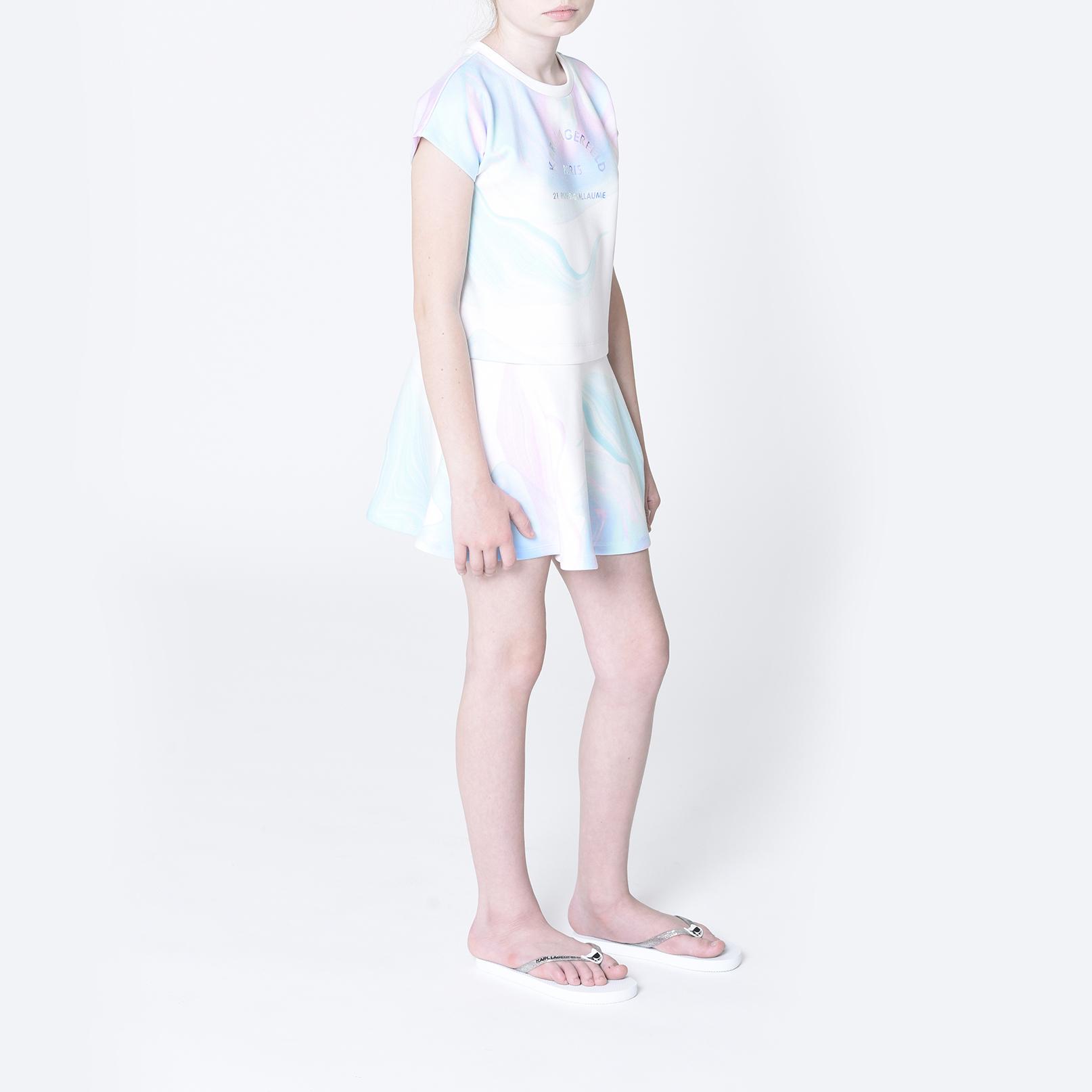 Robe jersey milano2-en-1 KARL LAGERFELD KIDS pour FILLE