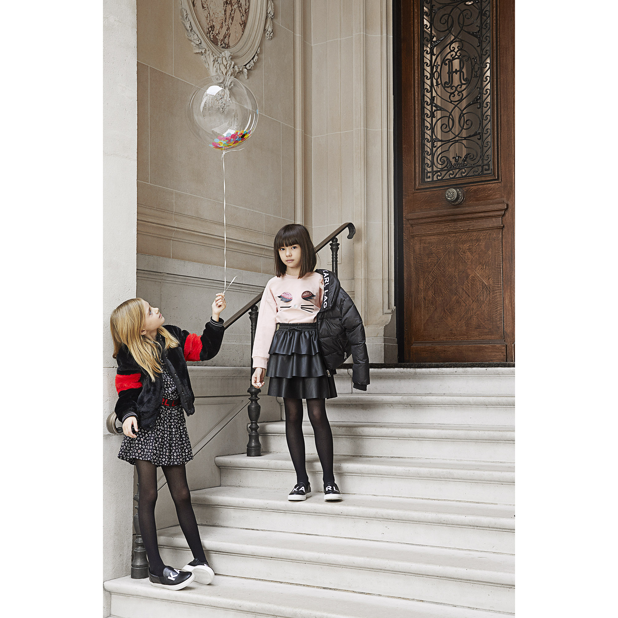 Frilled skirt KARL LAGERFELD KIDS for GIRL