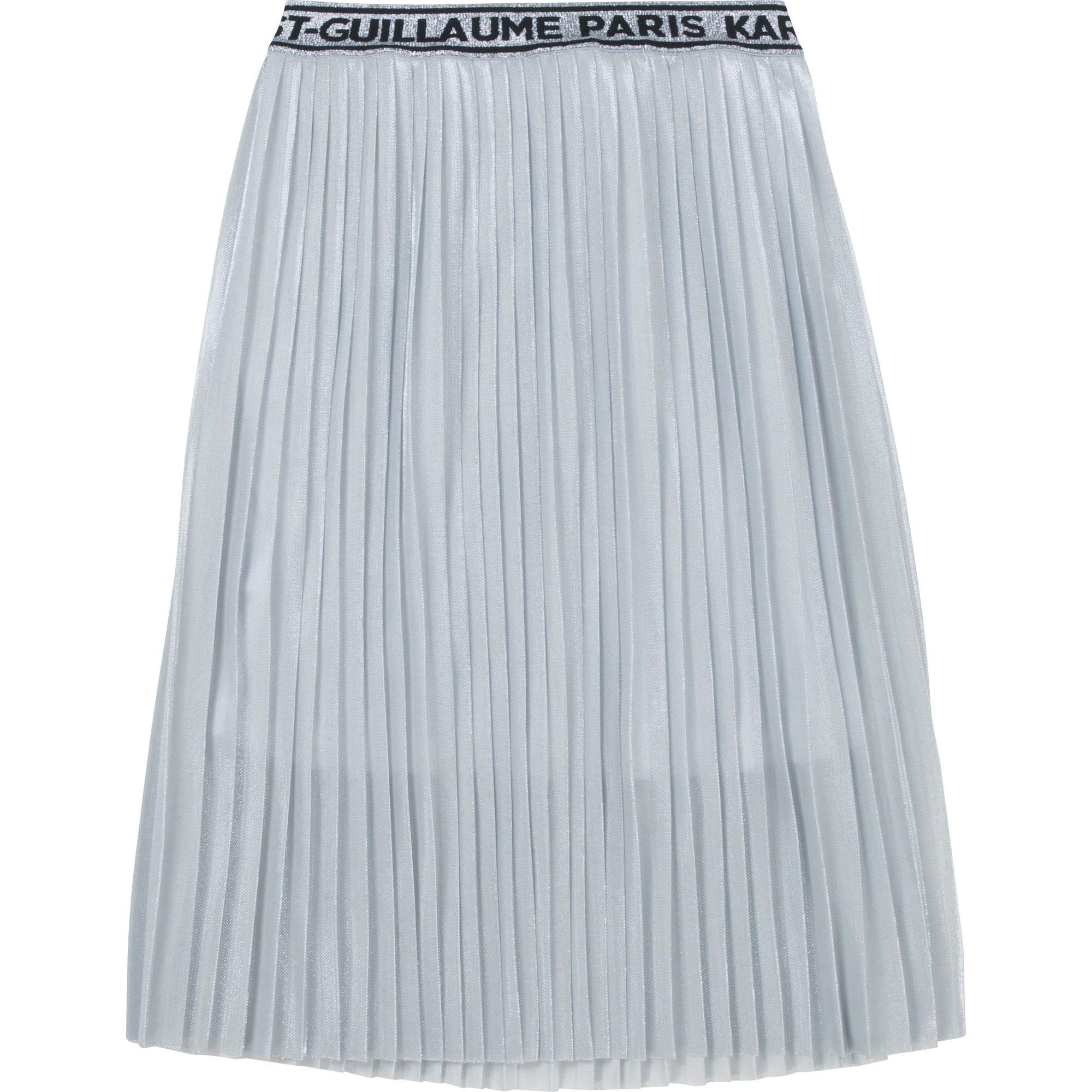 Jupe plissée en maille doublée KARL LAGERFELD KIDS pour FILLE