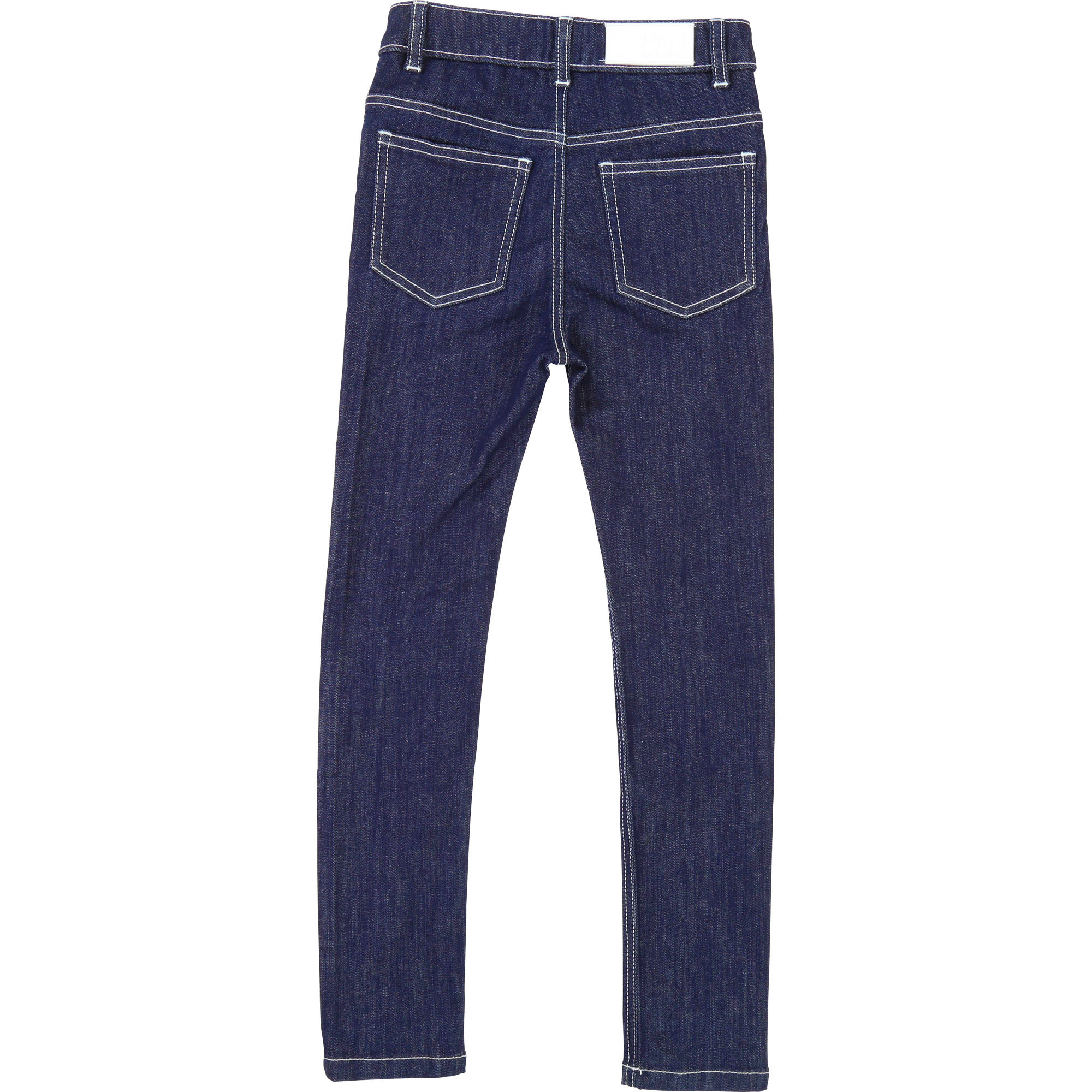 Pantalon denim slim KARL LAGERFELD KIDS pour FILLE