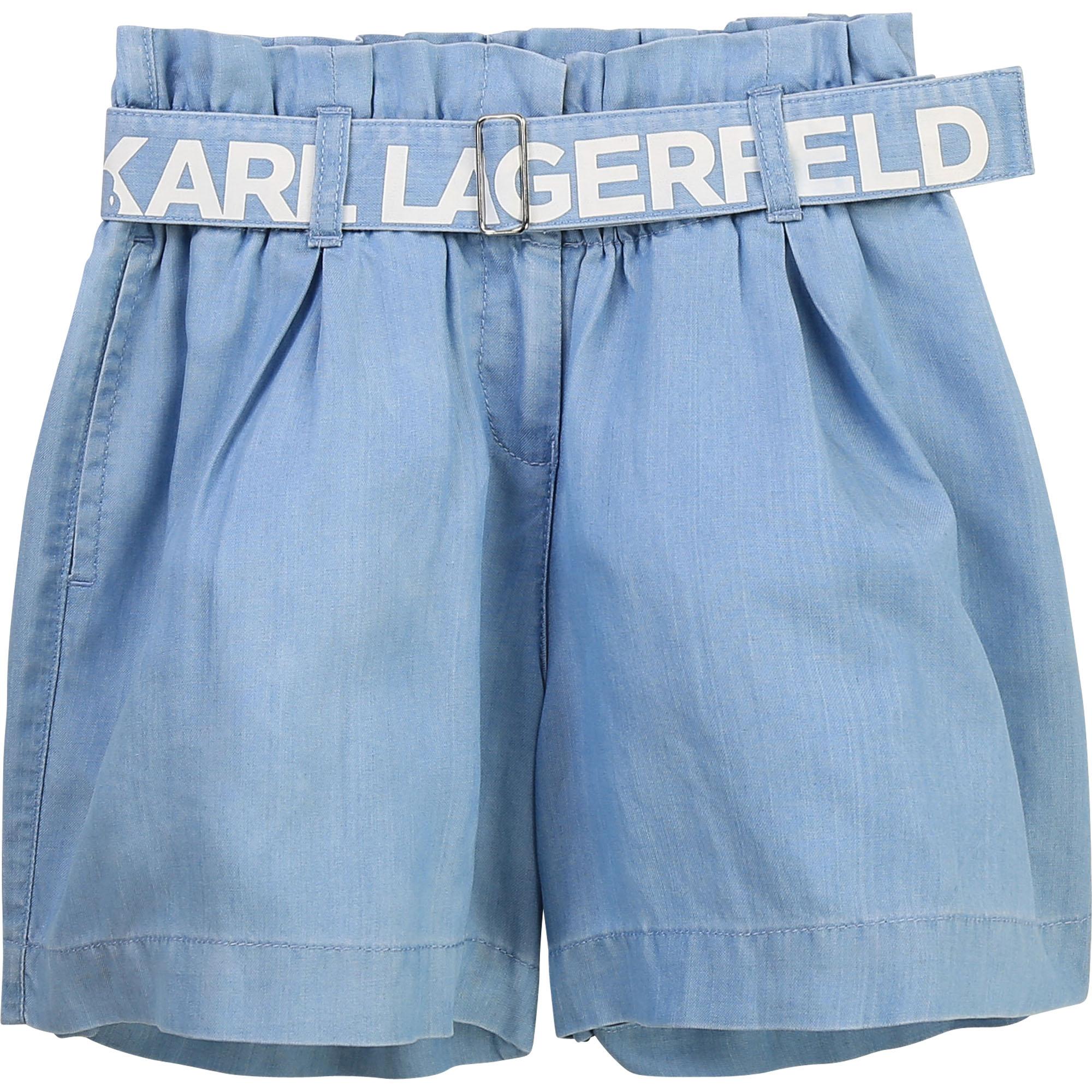 Lyocell paperbag shorts KARL LAGERFELD KIDS for GIRL