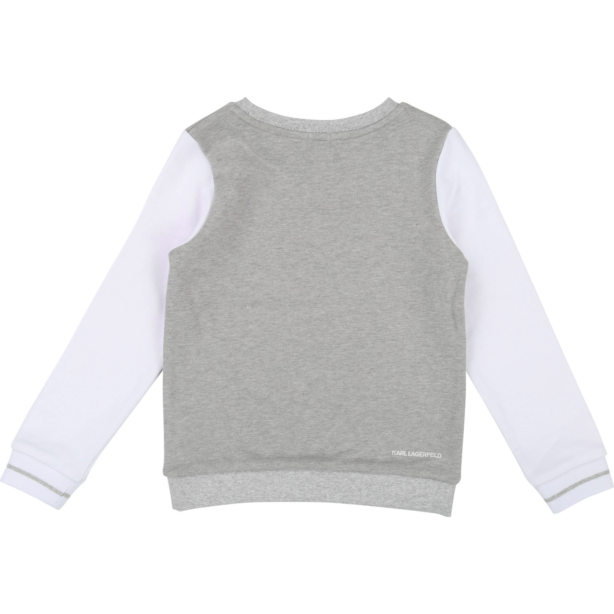 Sweat-shirt bicolore à imprimé KARL LAGERFELD KIDS pour FILLE