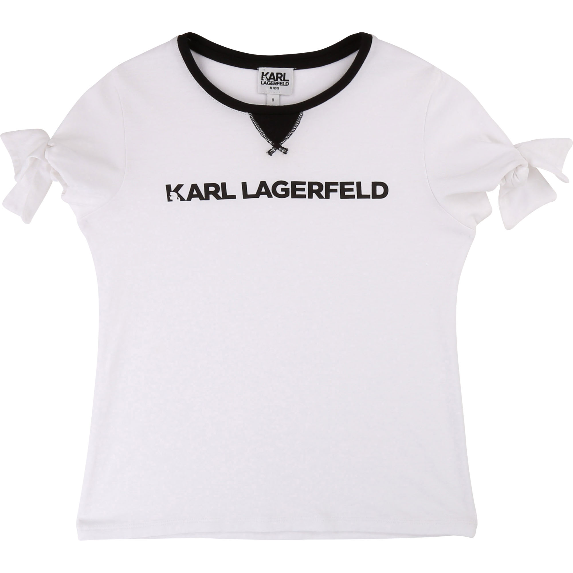 T-shirt manches courtes noeuds KARL LAGERFELD KIDS pour FILLE