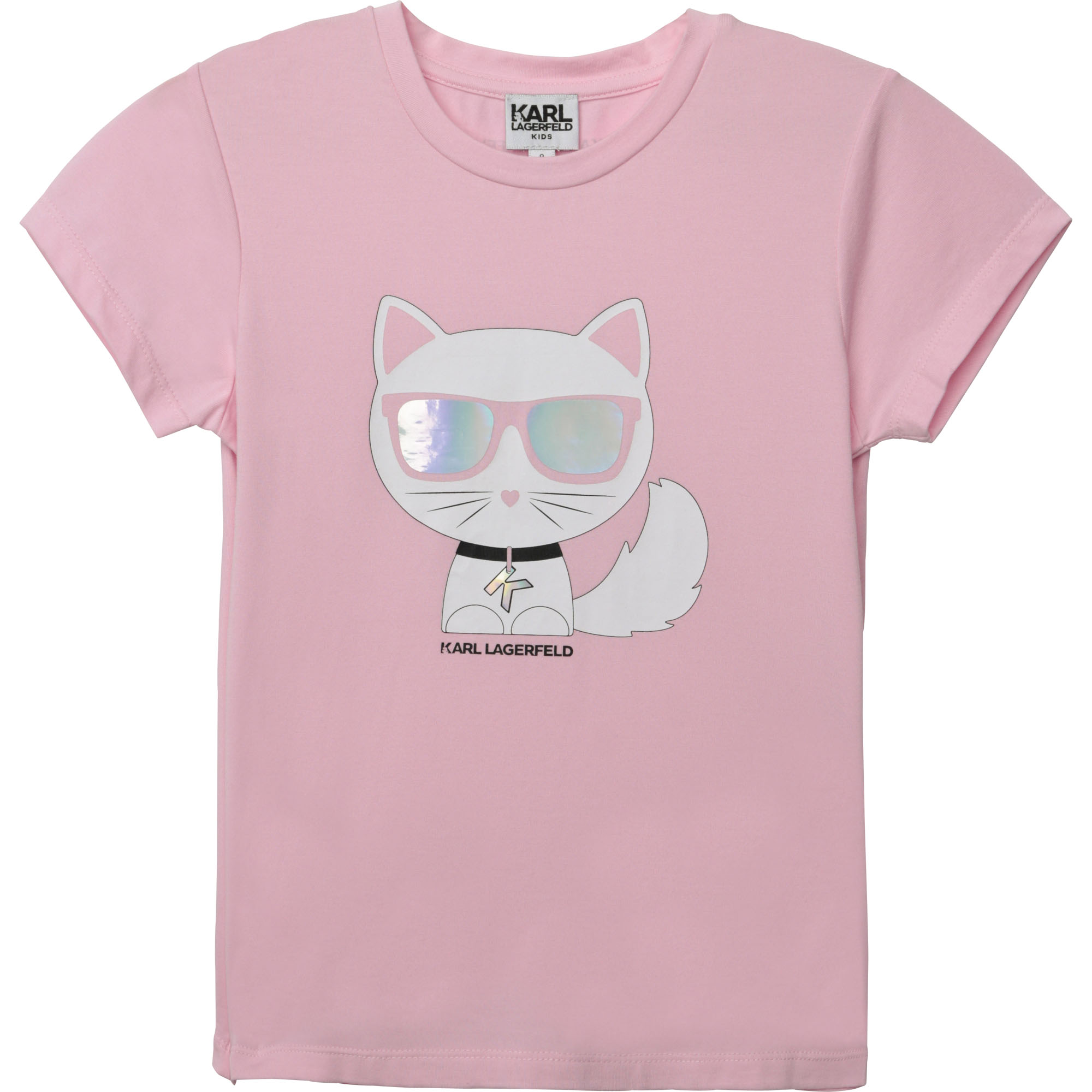 T-shirt jersey manches courtes KARL LAGERFELD KIDS pour FILLE