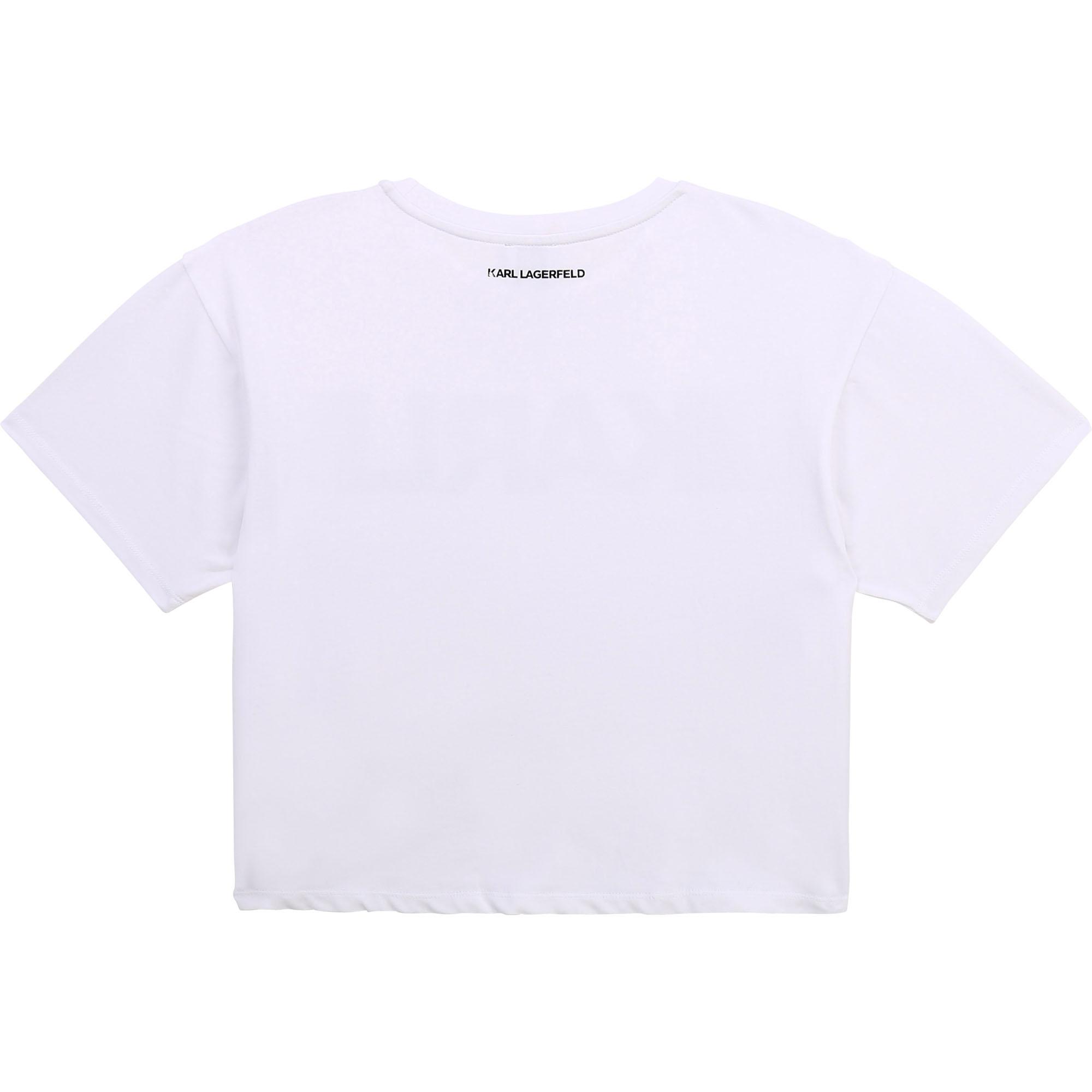 T-shirt à manches courtes KARL LAGERFELD KIDS pour FILLE