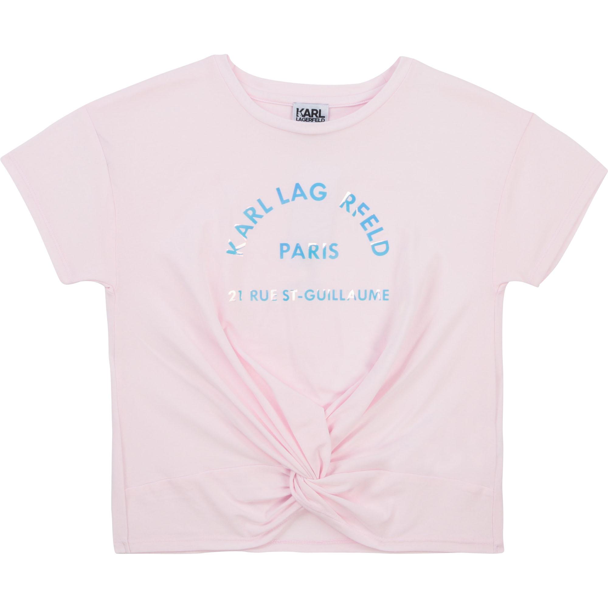 T-shirt fantaisie iridescent KARL LAGERFELD KIDS pour FILLE