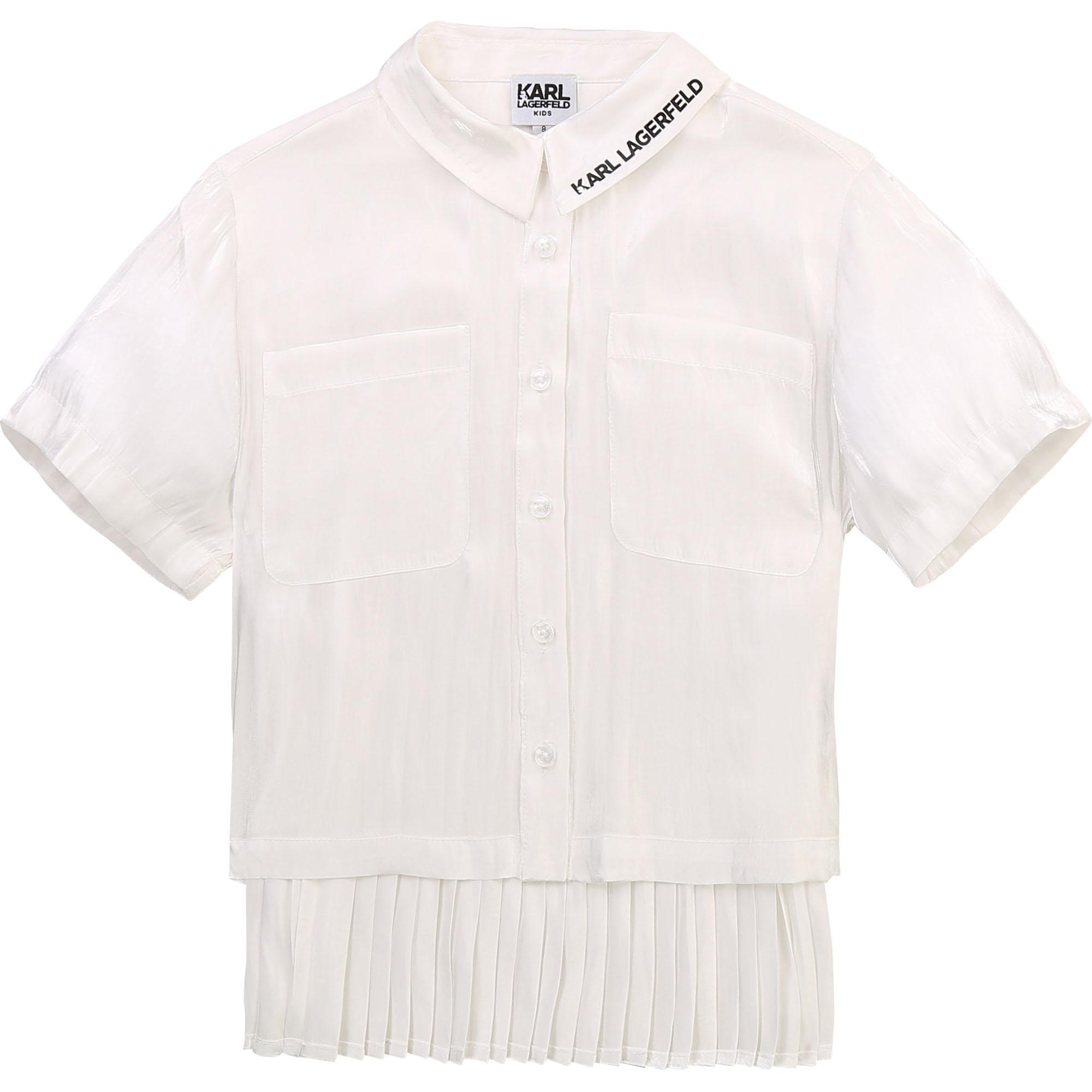 Chemise à manches courtes KARL LAGERFELD KIDS pour FILLE