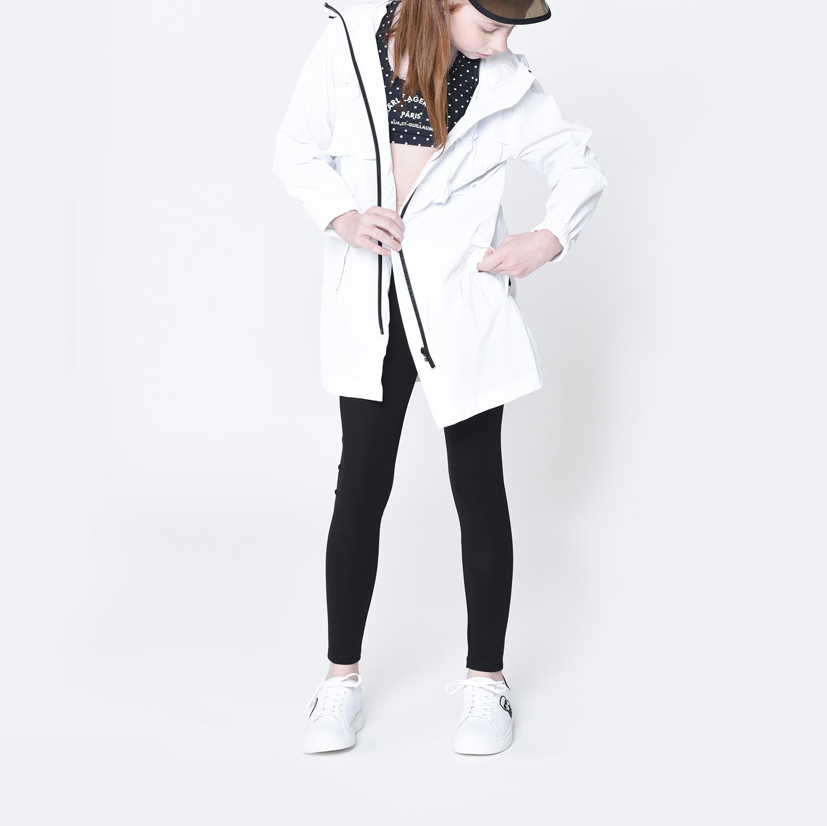 Hooded windbreaker KARL LAGERFELD KIDS for GIRL
