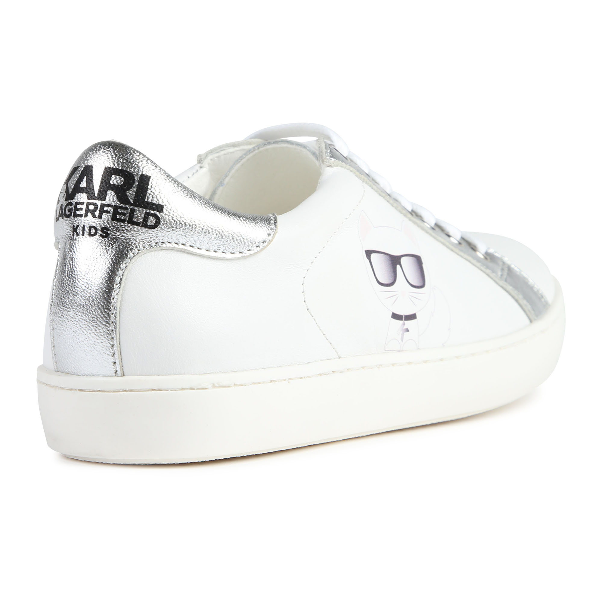 Low-top leather trainers KARL LAGERFELD KIDS for GIRL