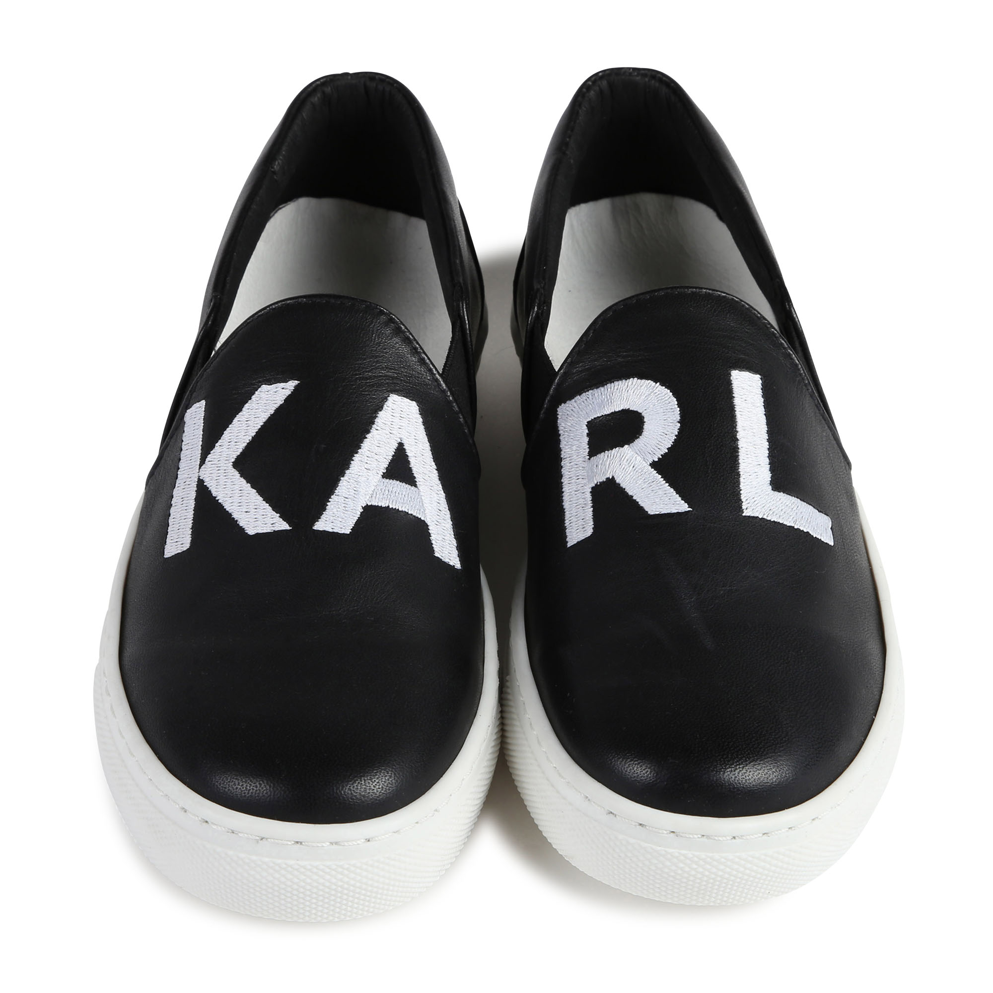 Leather shoes with logo KARL LAGERFELD KIDS for GIRL