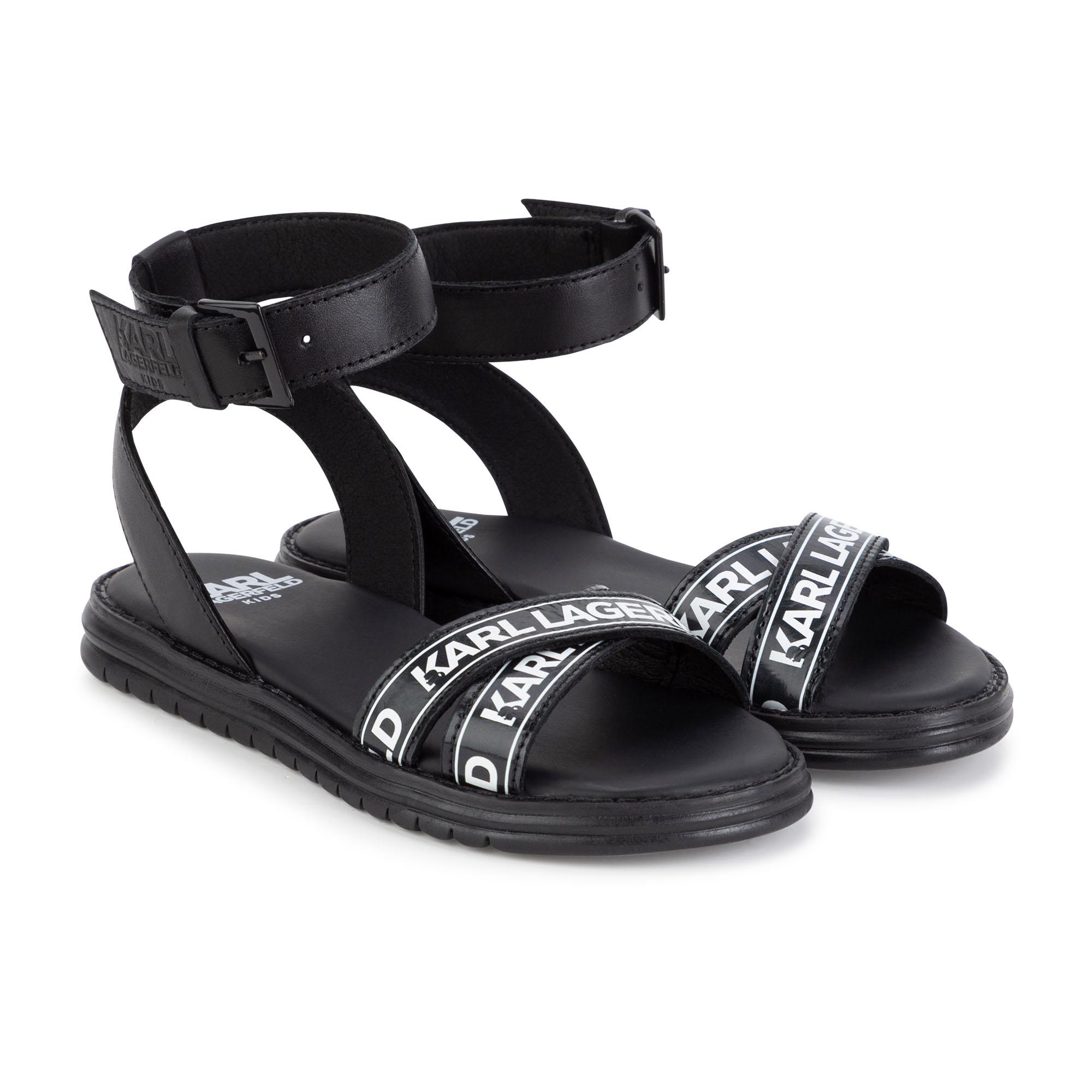 Sandales en cuir KARL LAGERFELD KIDS pour FILLE