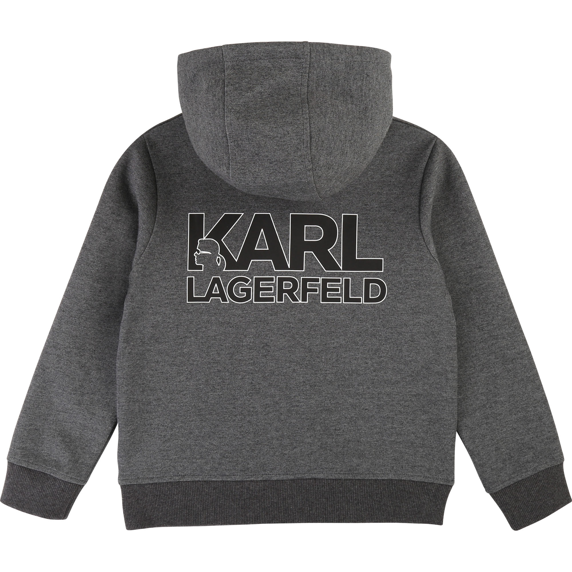 Hooded jogging cardigan KARL LAGERFELD KIDS for BOY