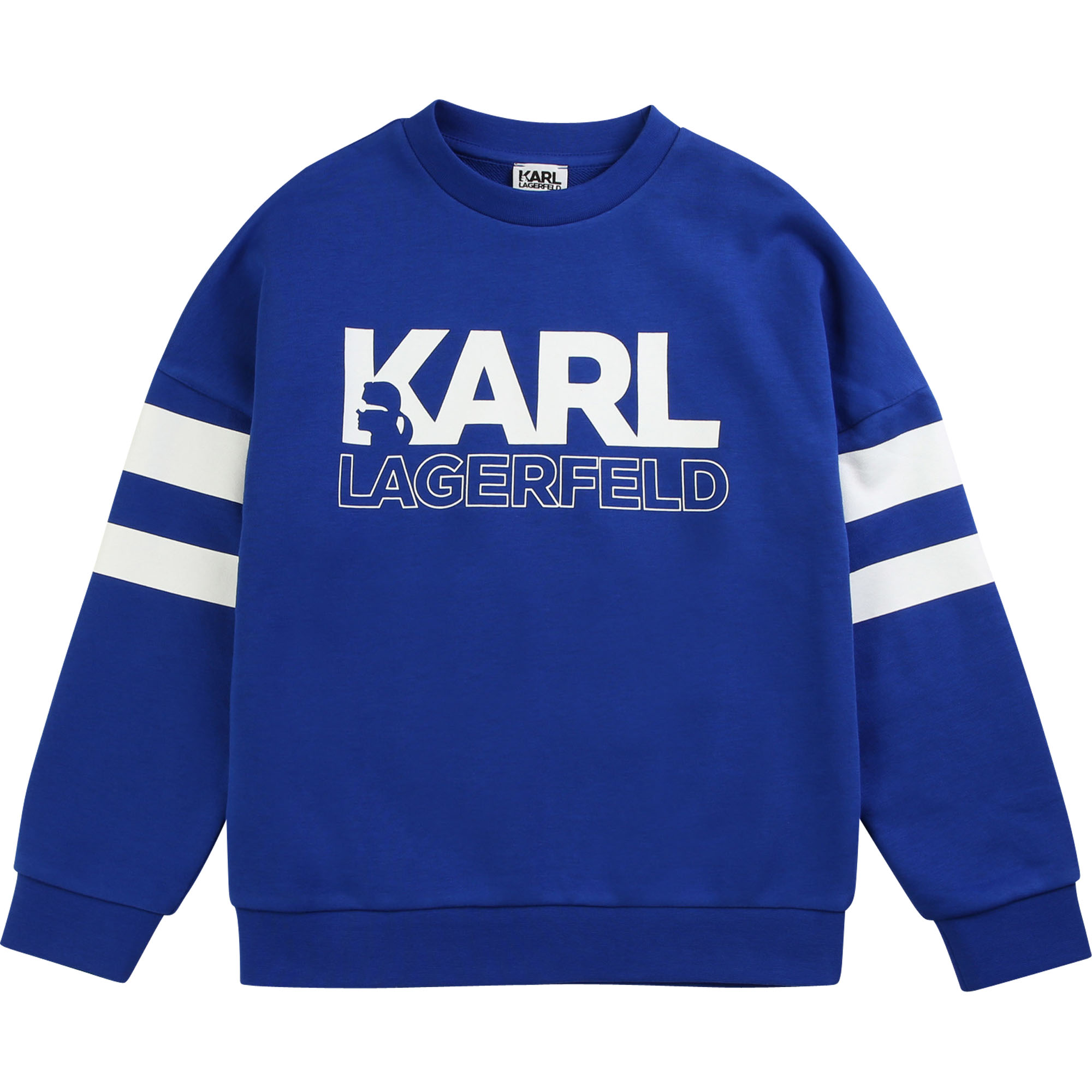 Sweat col rond avec rayures KARL LAGERFELD KIDS pour GARCON