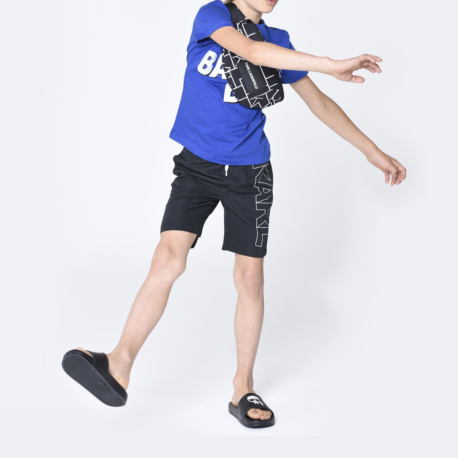 T-shirt en coton bio KARL LAGERFELD KIDS pour GARCON