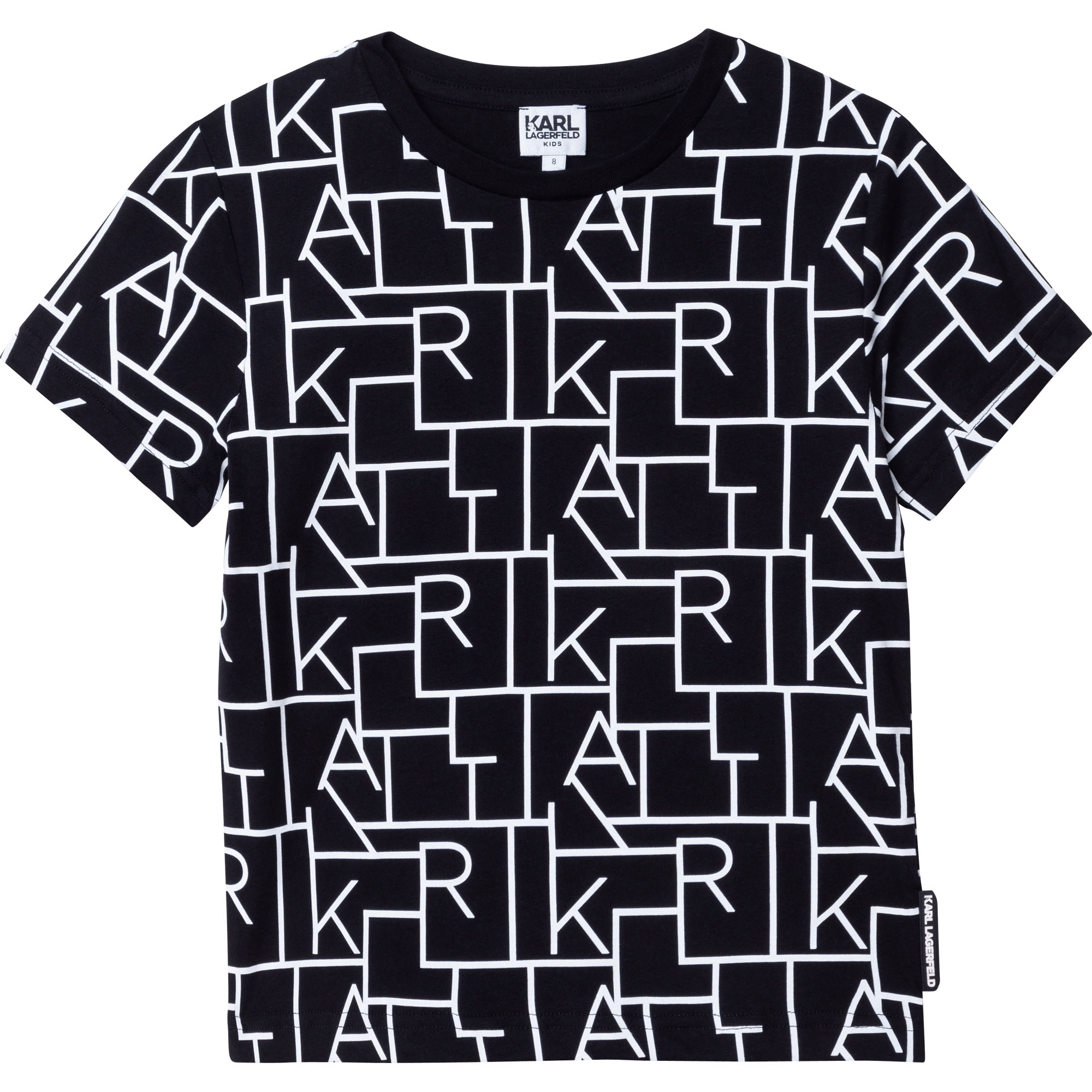 TEE-SHIRT MANCHES COURTES KARL LAGERFELD KIDS pour GARCON