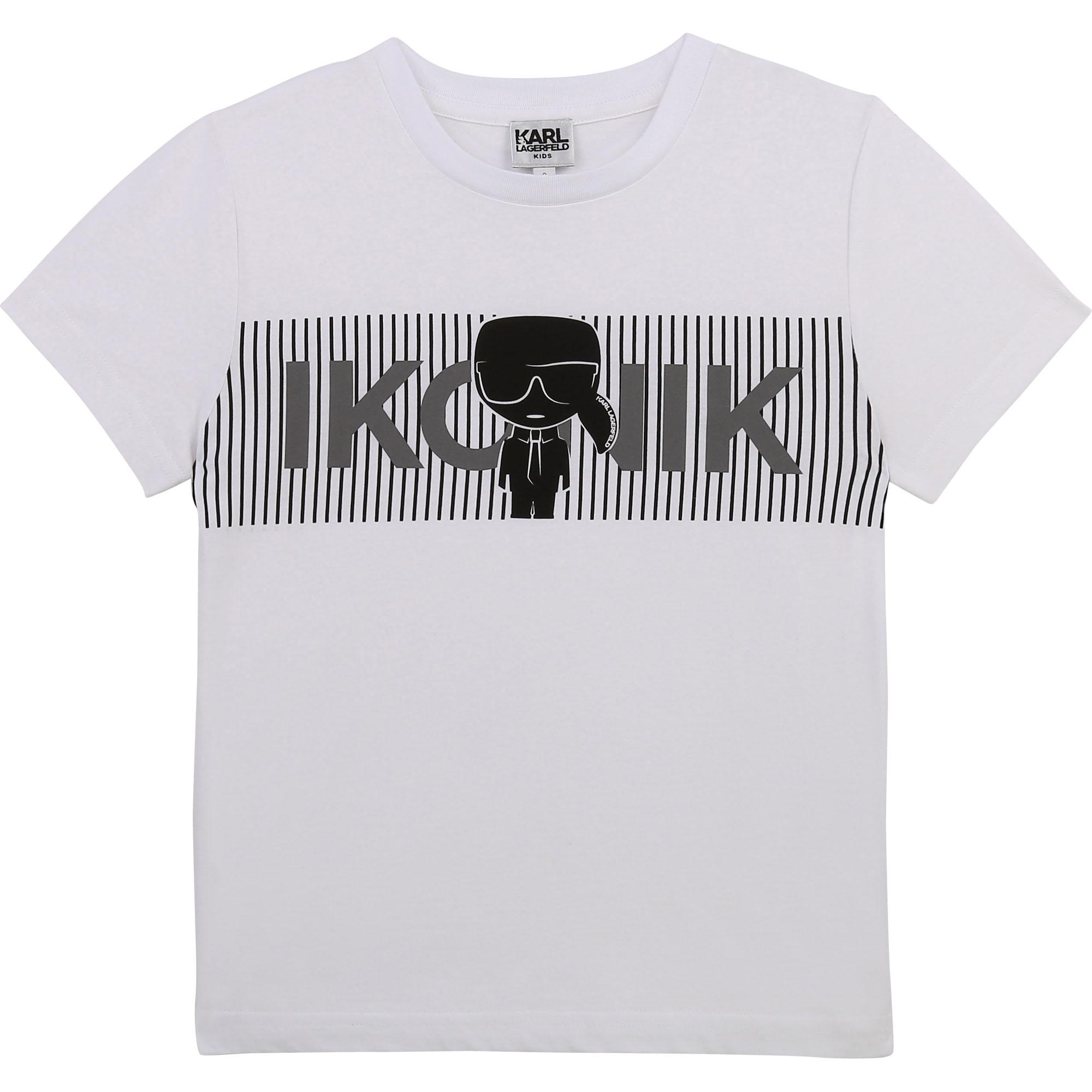 T-shirt imprimé avec logo KARL LAGERFELD KIDS pour GARCON
