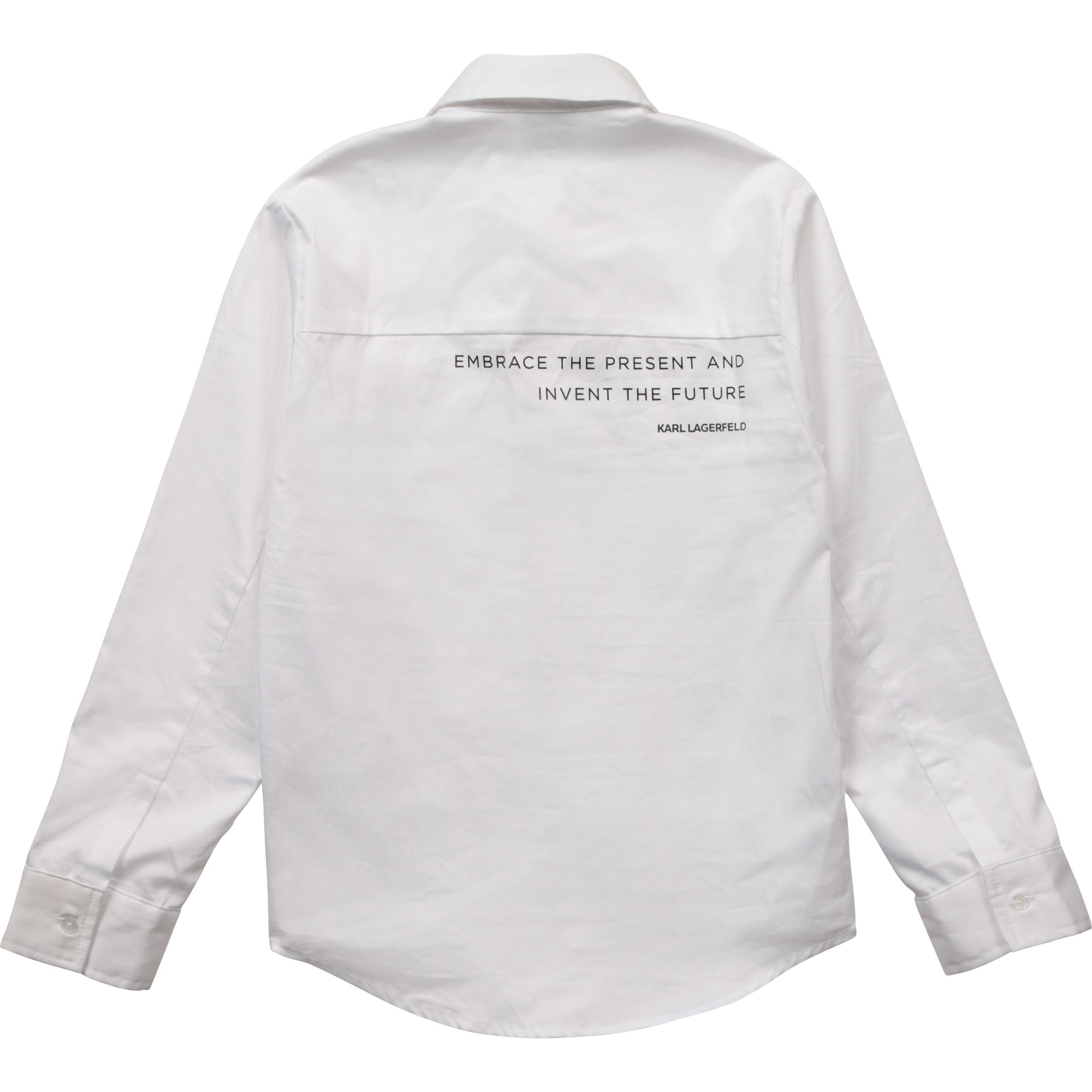 Shirt with message on back KARL LAGERFELD KIDS for BOY