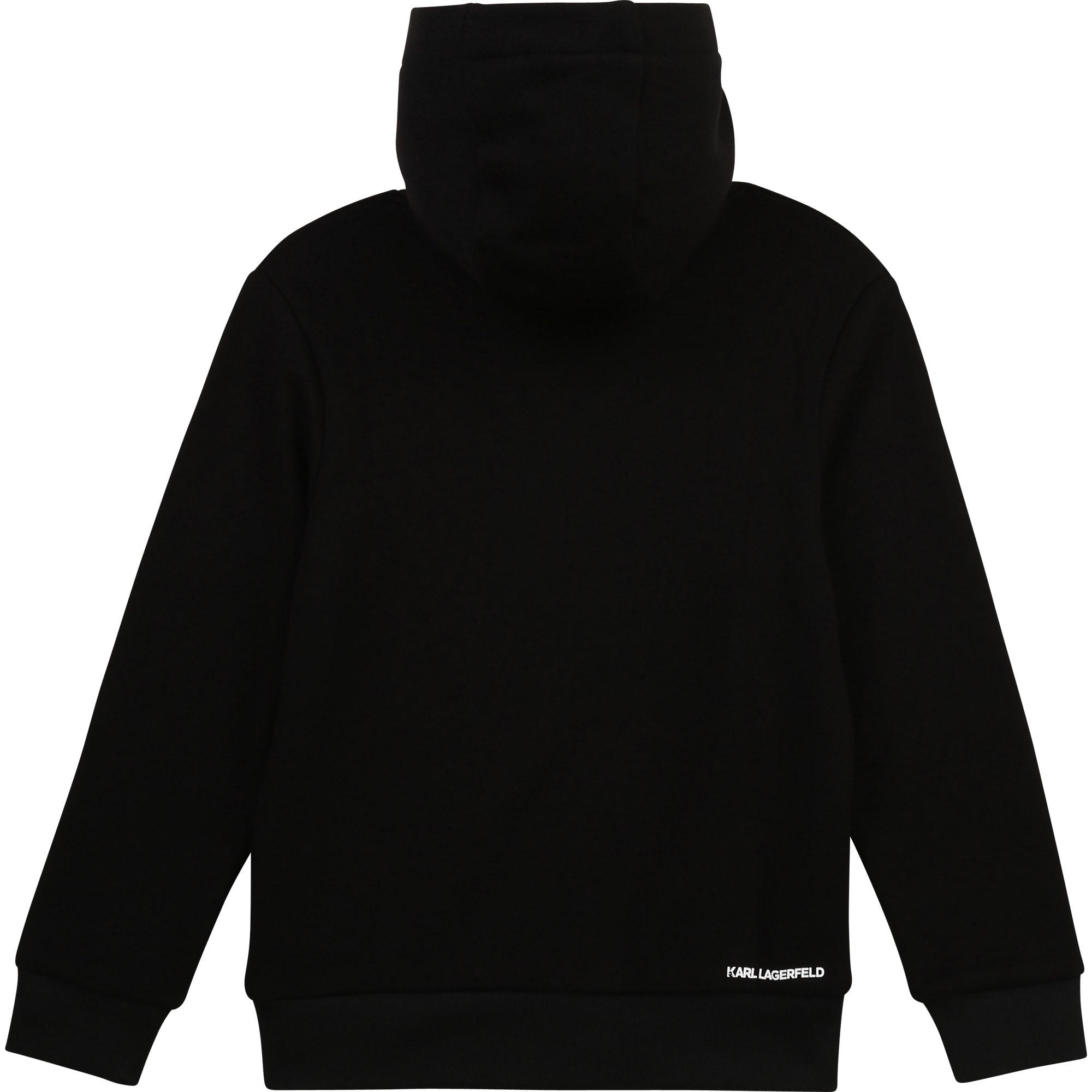 Hooded cotton sweatshirt KARL LAGERFELD KIDS for BOY