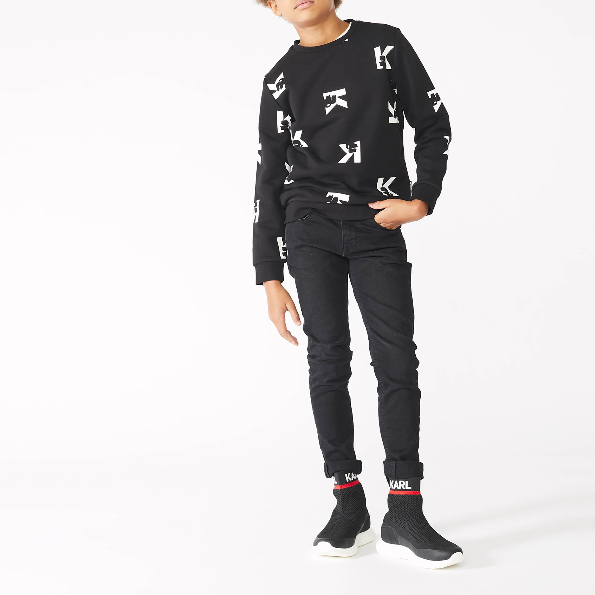 K-print sweatshirt KARL LAGERFELD KIDS for BOY