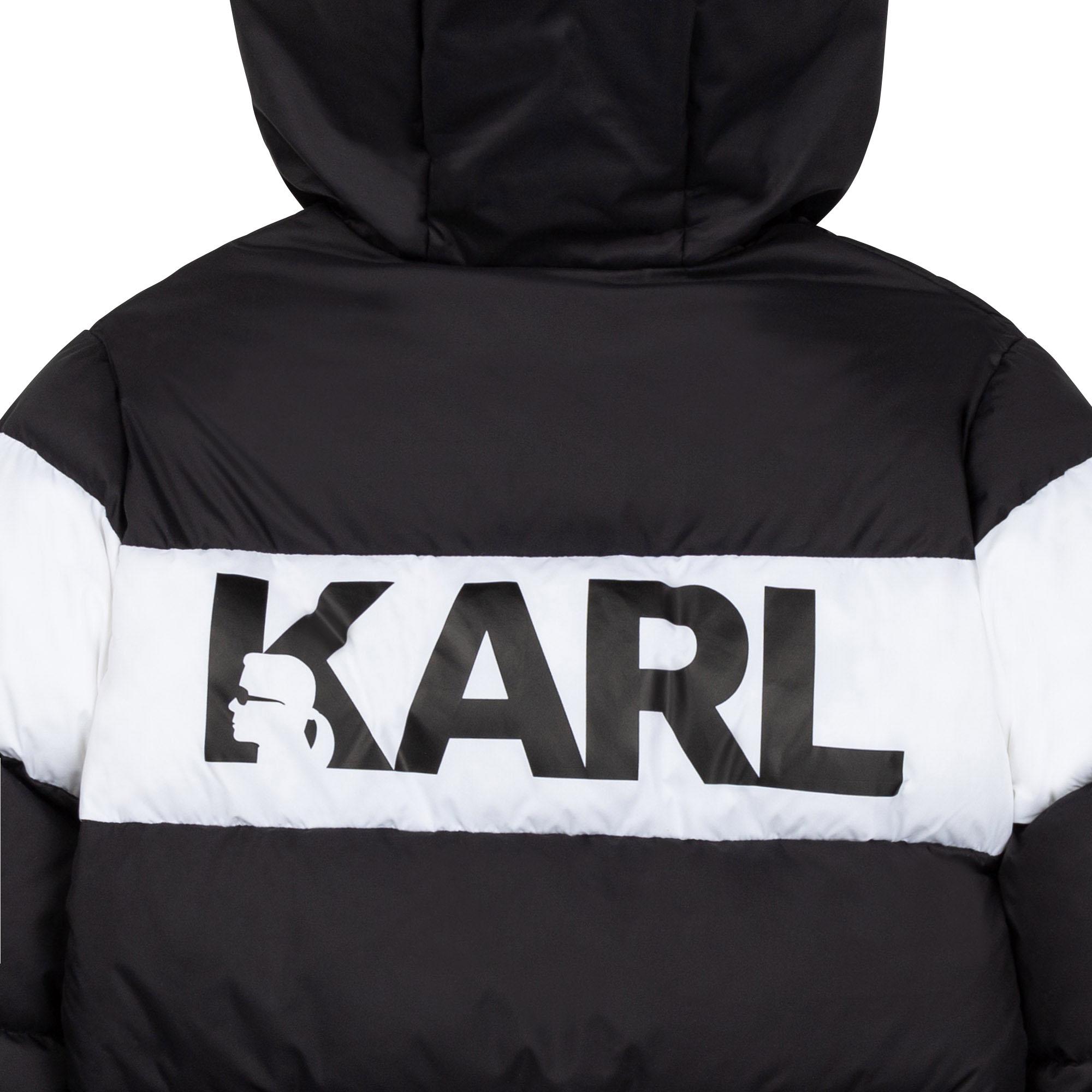 Water-repellent puffer jacket KARL LAGERFELD KIDS for BOY
