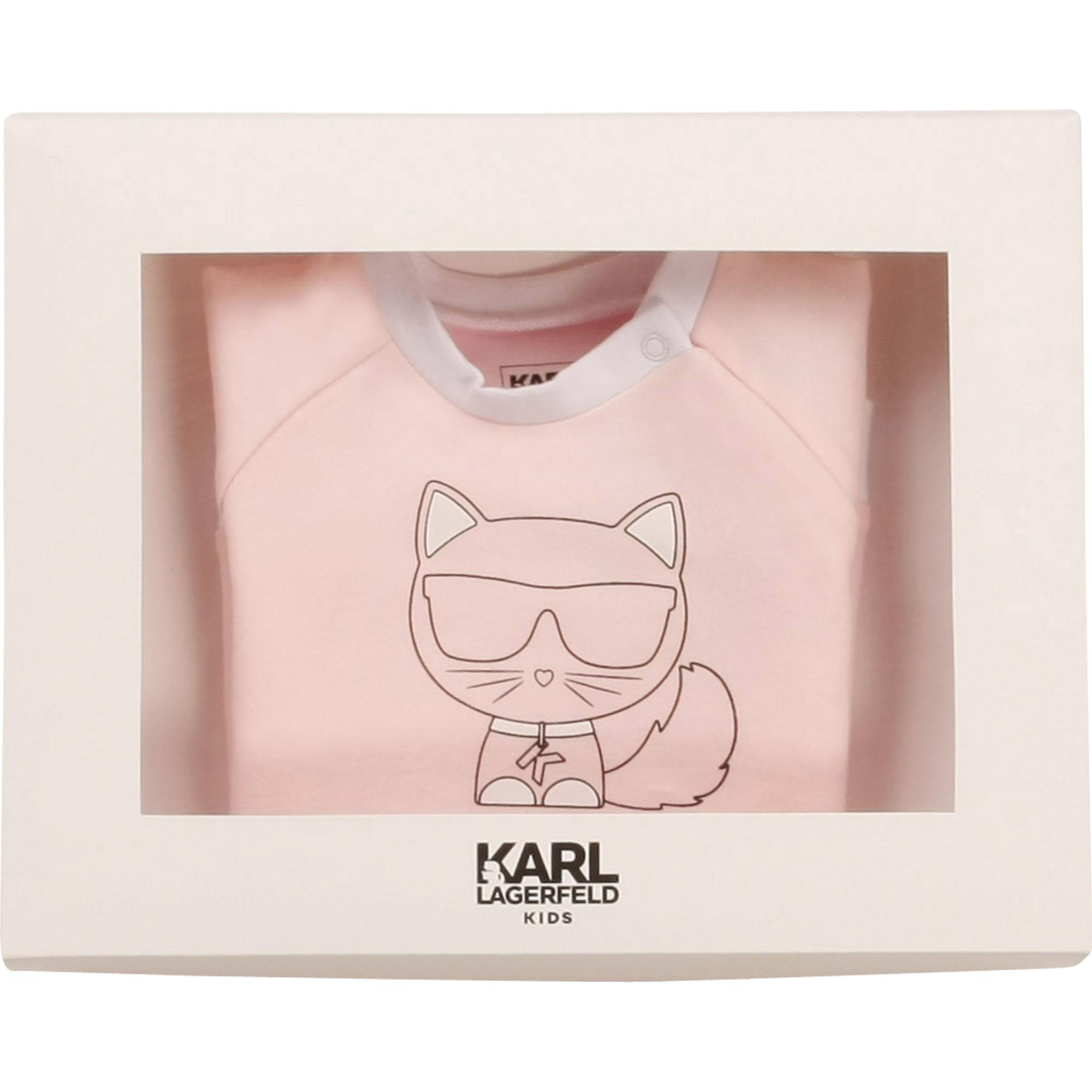 Stretch cotton dress KARL LAGERFELD KIDS for GIRL