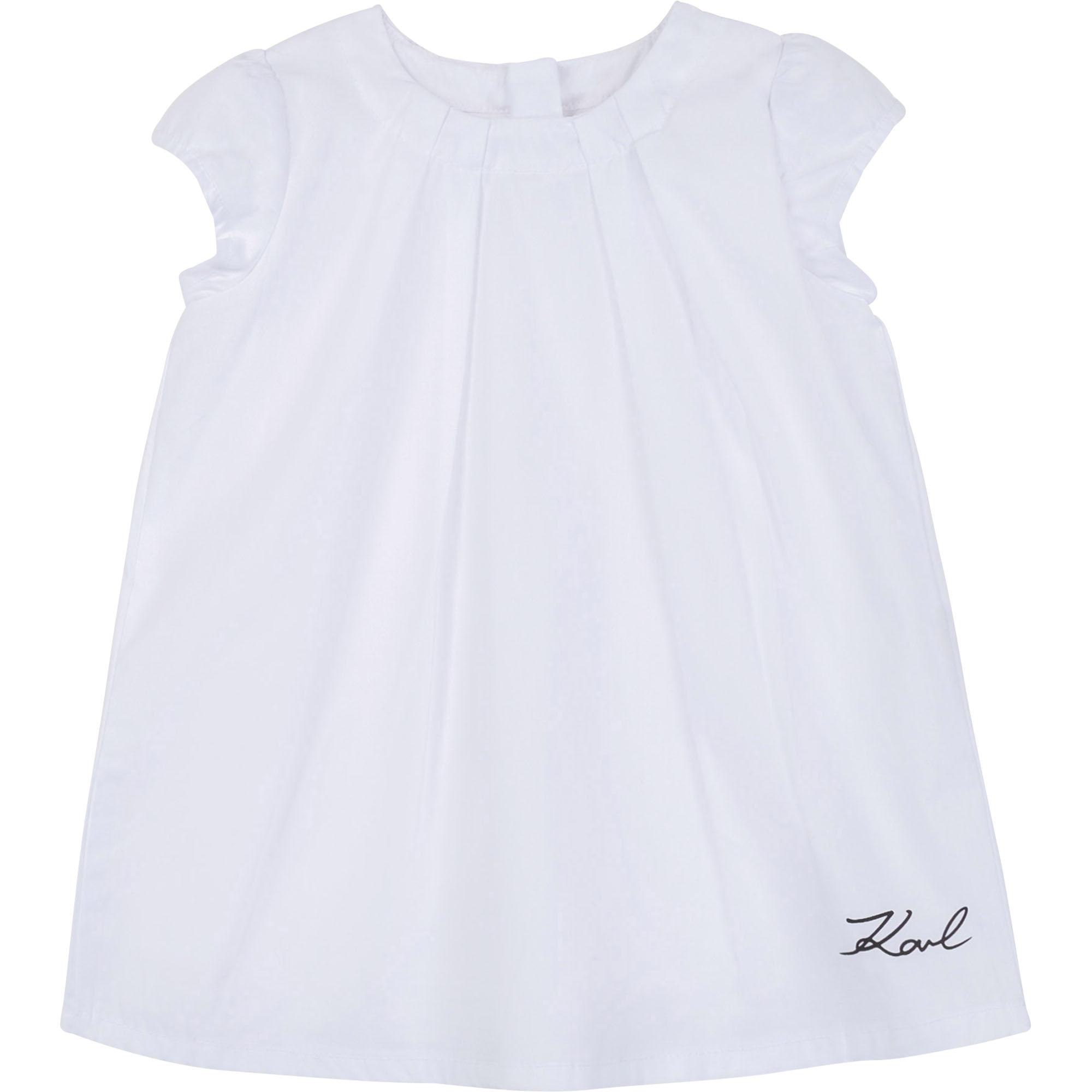 Cotton Poplin Dress KARL LAGERFELD KIDS for GIRL