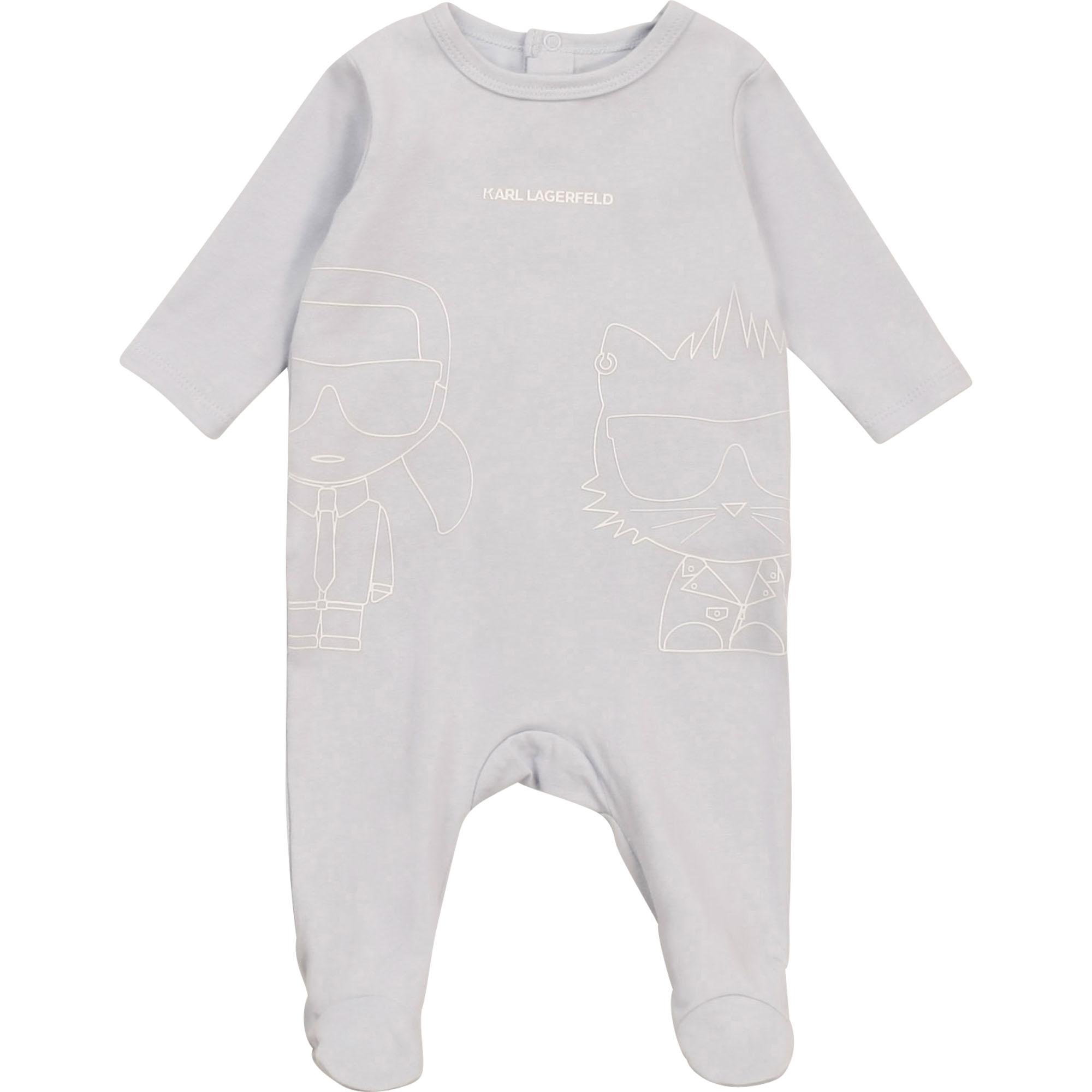 Pyjama en jersey coton KARL LAGERFELD KIDS pour GARCON