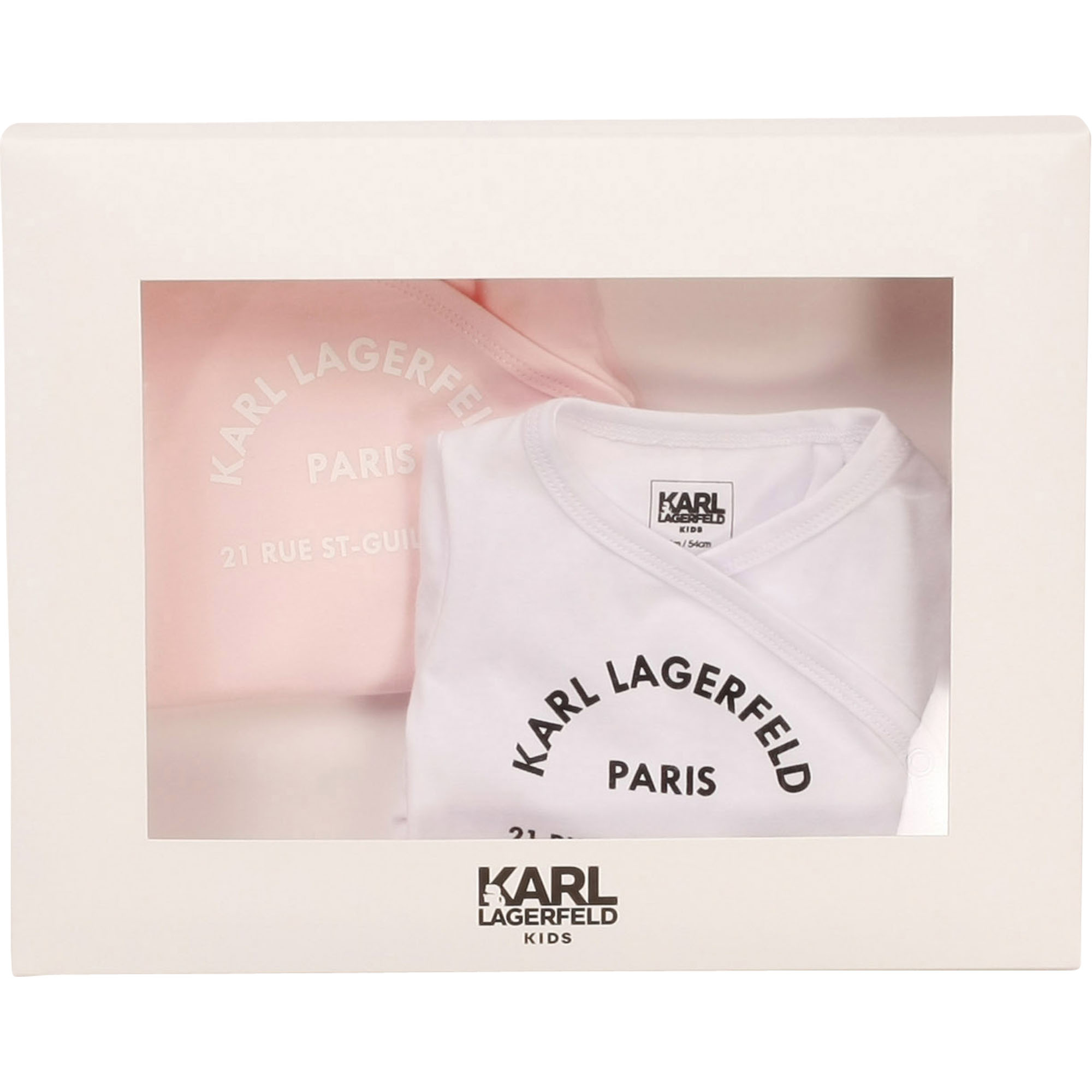 Lot de 2 bodies en jersey coton KARL LAGERFELD KIDS pour FILLE
