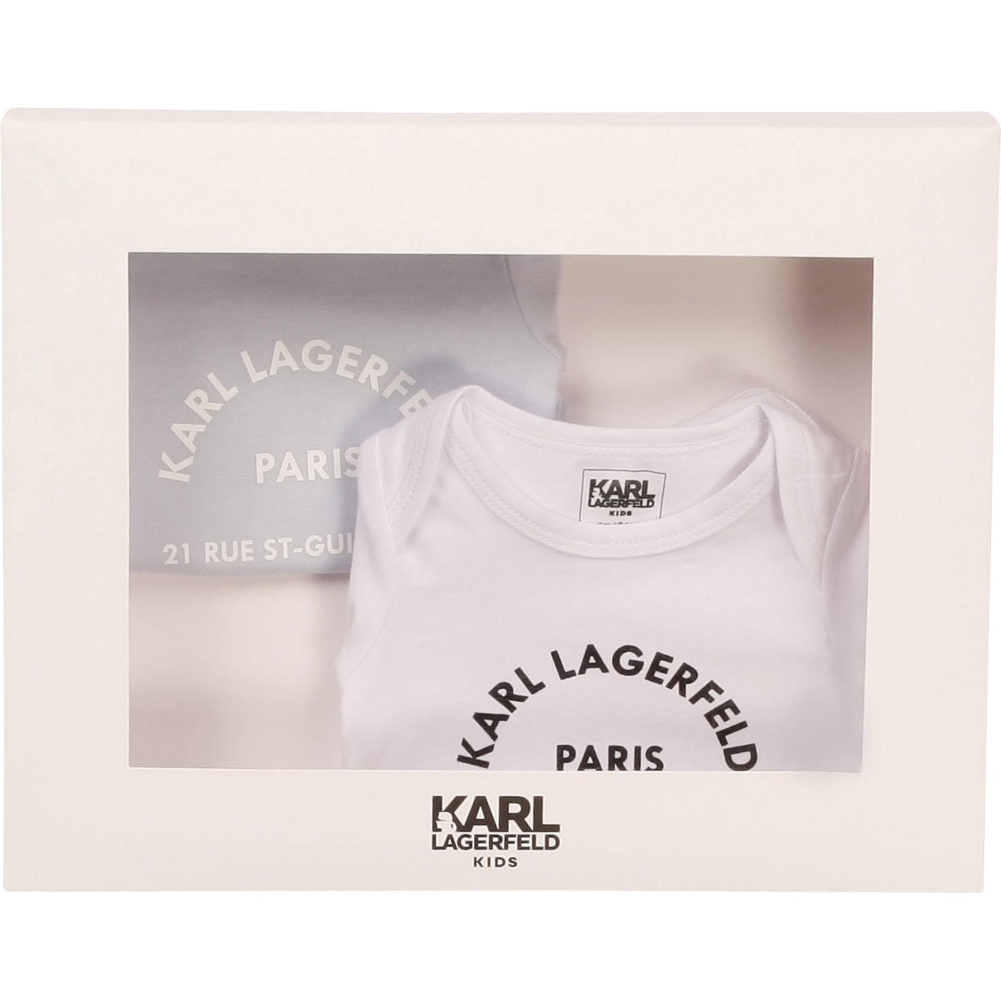 Lot de 2 bodies en jersey KARL LAGERFELD KIDS pour GARCON