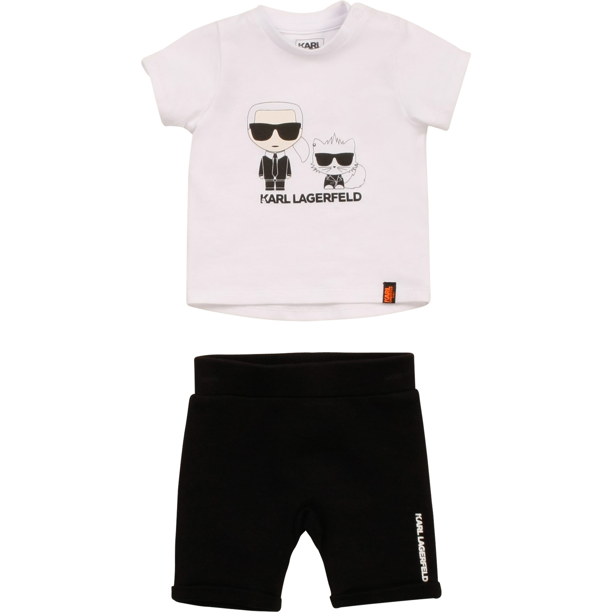 Cotton T-shirt and shorts set KARL LAGERFELD KIDS for BOY