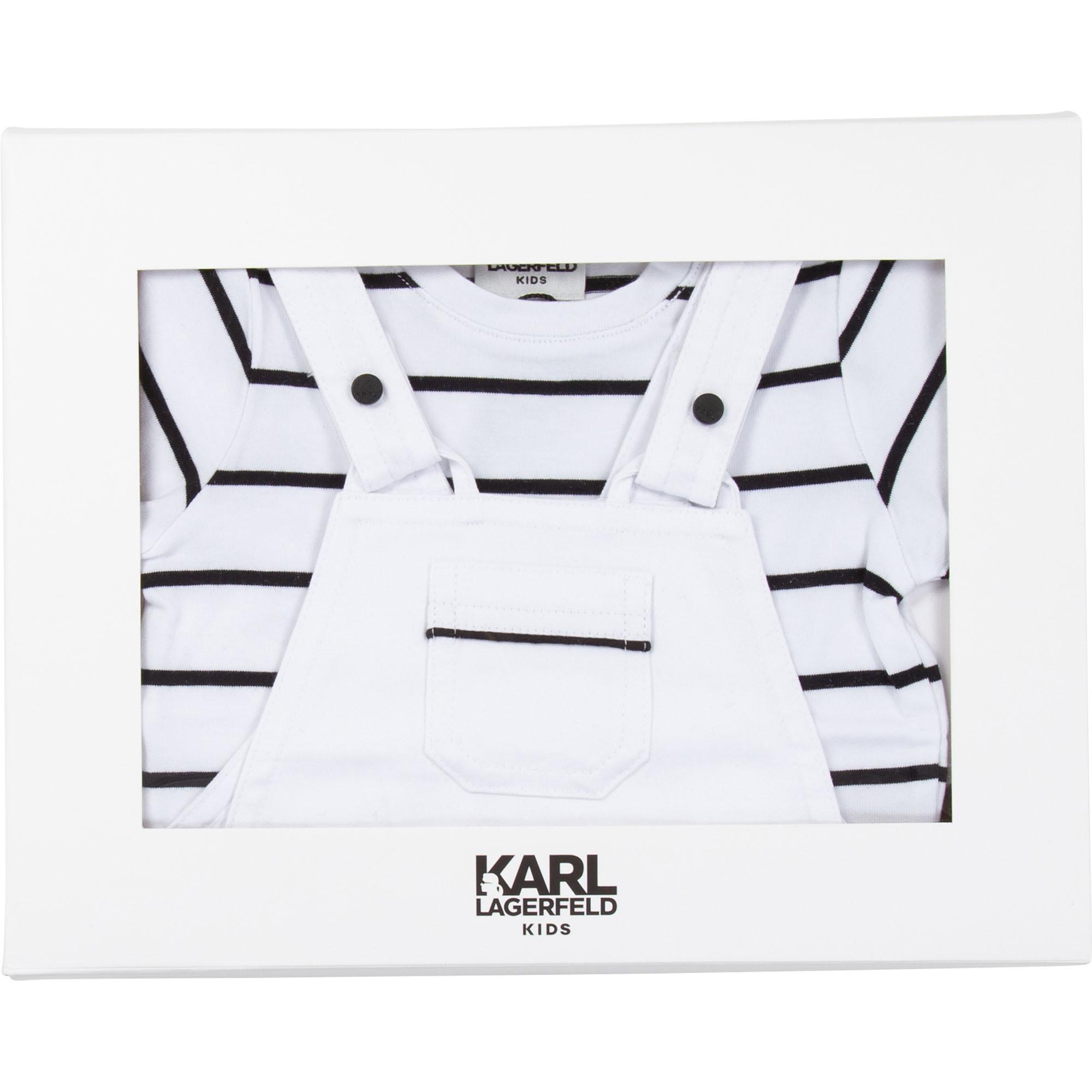 ENS. SALOPETTE+POLO KARL LAGERFELD KIDS pour GARCON