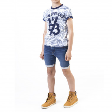 T-shirt coton imprimé all-over TIMBERLAND pour GARCON