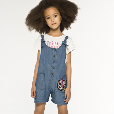 Salopette denim fantaisie LITTLE MARC JACOBS pour FILLE