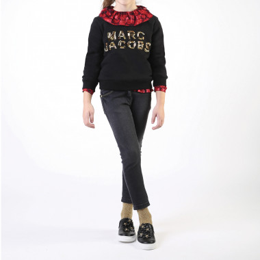 Sweat coton perles brodées THE MARC JACOBS pour FILLE