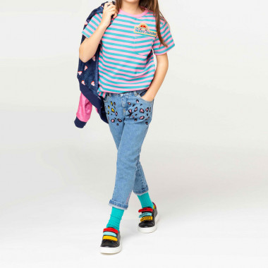 T-shirt en interlock rayé THE MARC JACOBS pour FILLE
