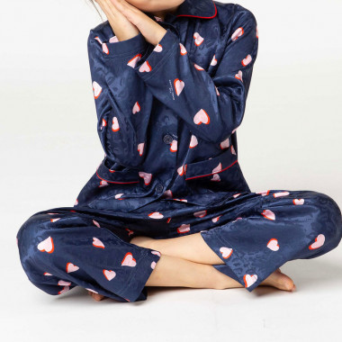 Ensemble pyjama satin imprimé THE MARC JACOBS pour FILLE